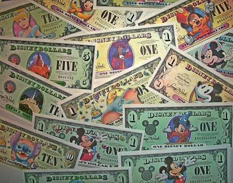 Disney Dollars & Gift Cards