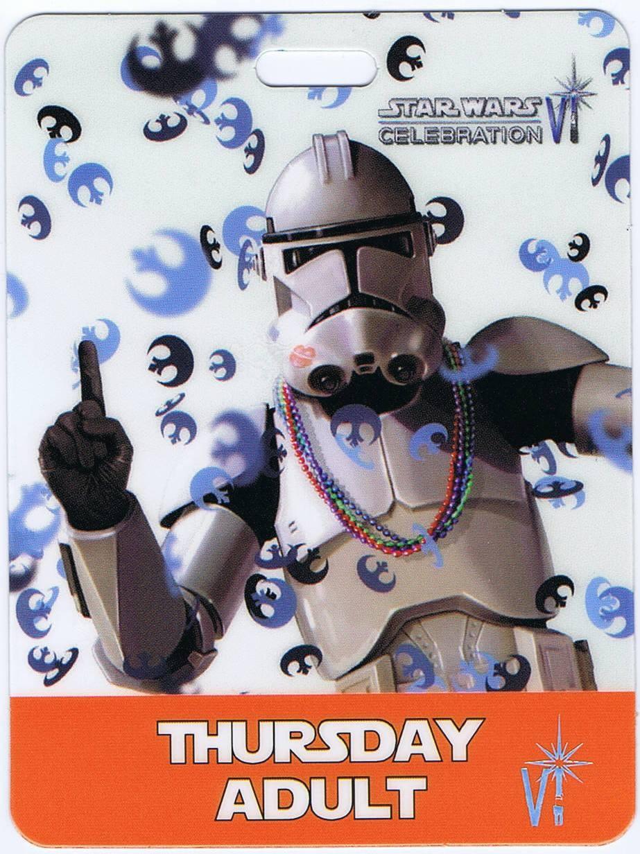 Star Wars Celebration VI (C6)  Thursday Badge and Lanyard FRONT © Dizdude.com