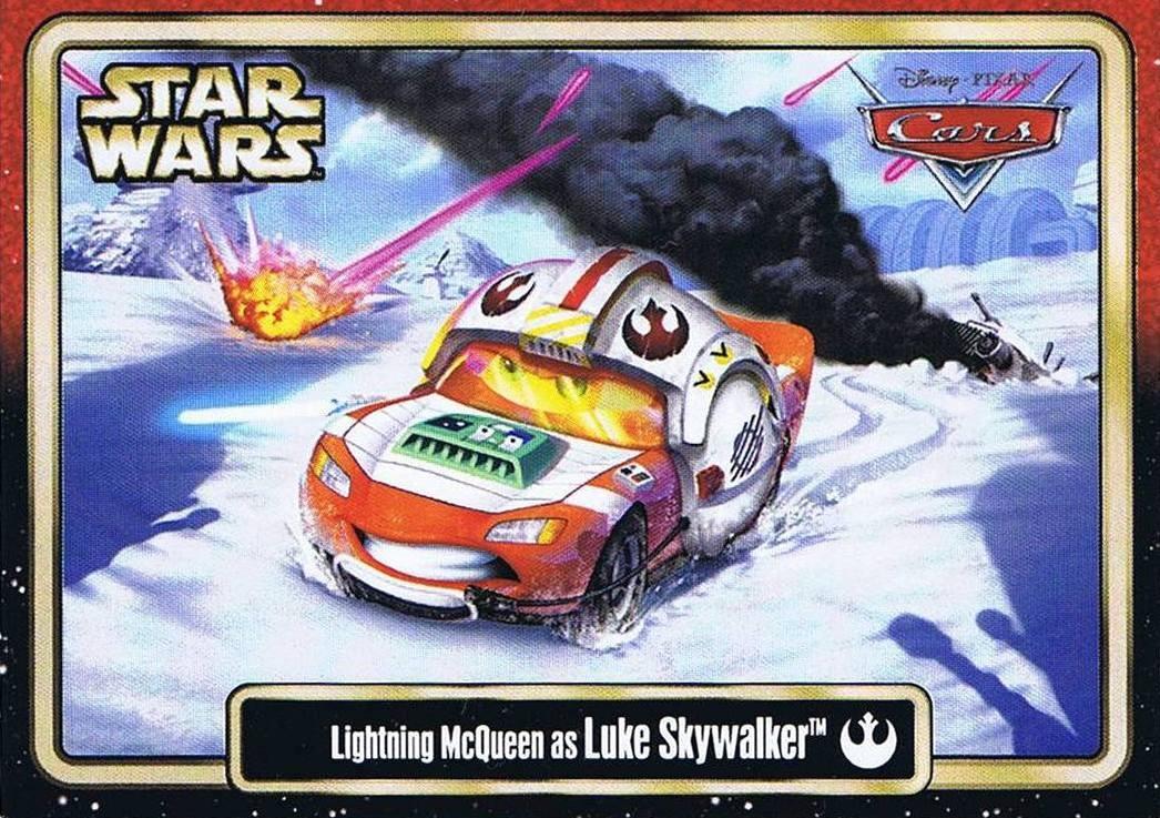 Star Wars Celebration VI (C6) Lightning McQueen as Luke Skywalker Star CarsTrading Card © Dizdude.com
