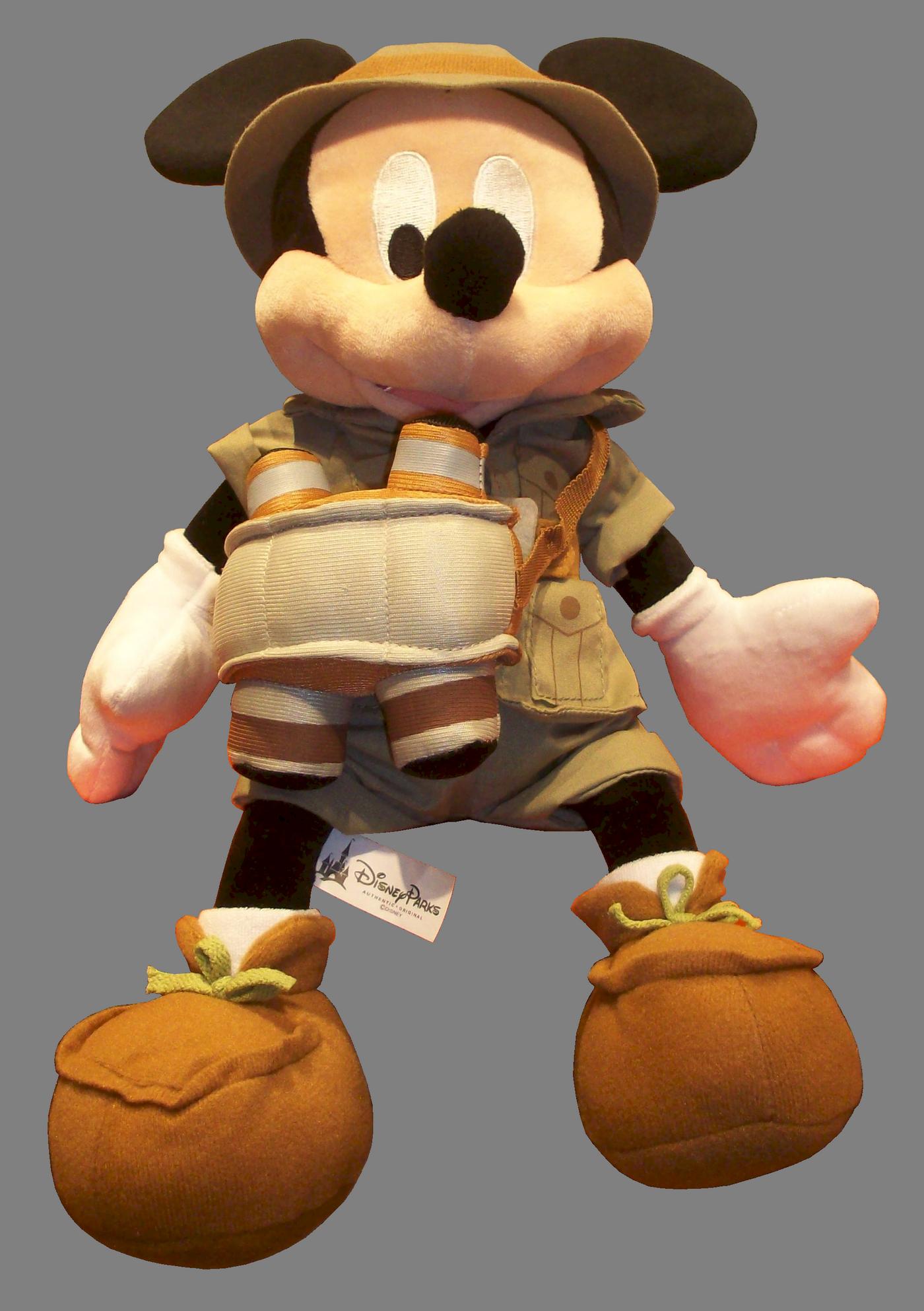 12 inch Safari Mickey Mouse Plush ~ Disney Animal Kingdom © Dizdude.com