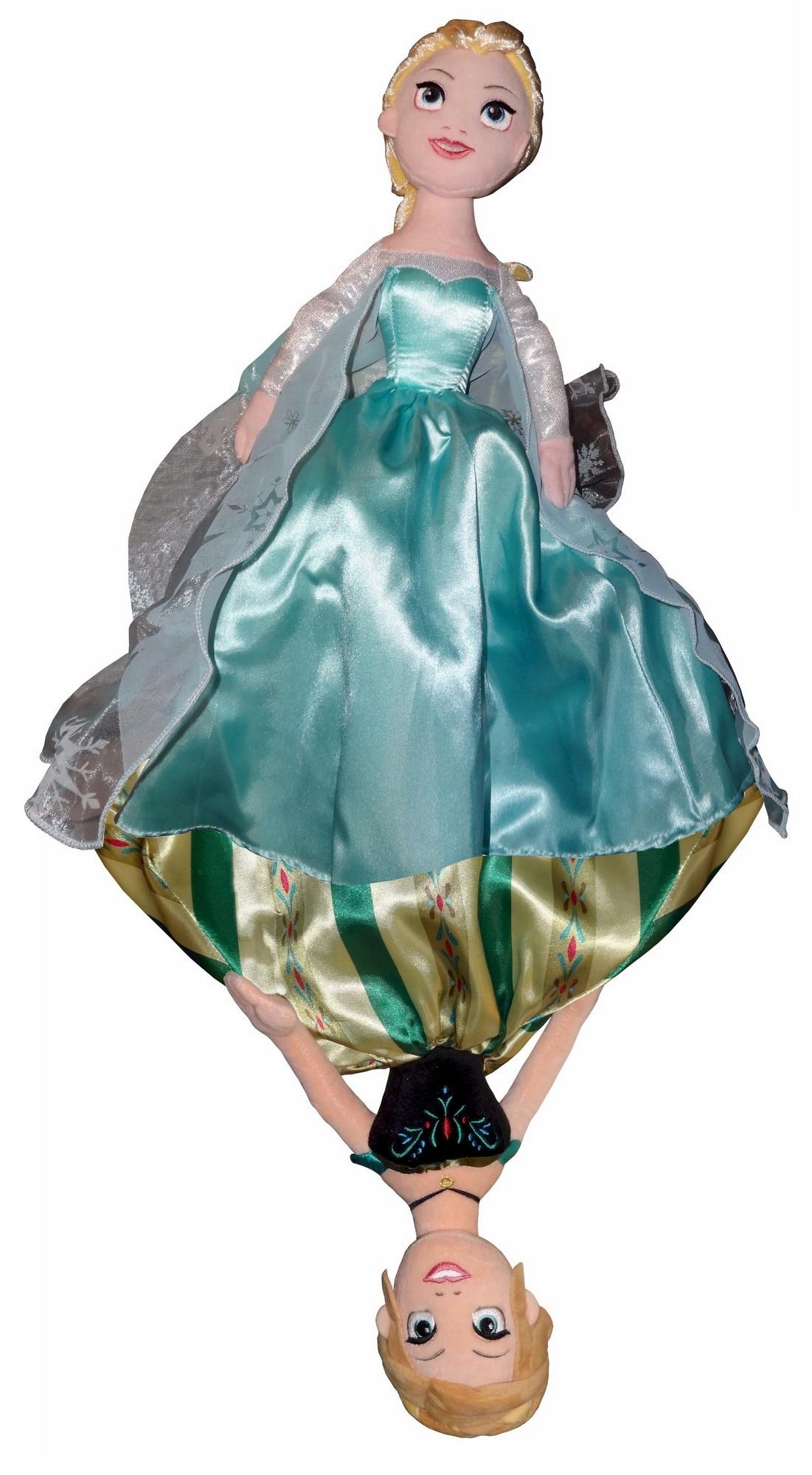 Disney Frozen 14 Inch Anna & Elsa Topsy Turvy Plush Doll © Dizdude.com