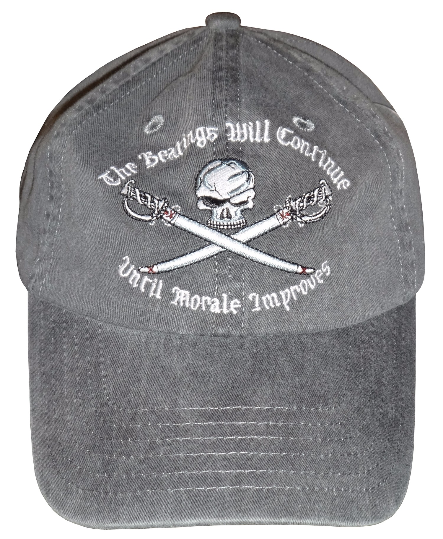 """Pirates of the Caribbean """"The Beatings Will Continue Until Moral Improves"""" Embroidered Hat ~ Disney Magic Kingdom"""