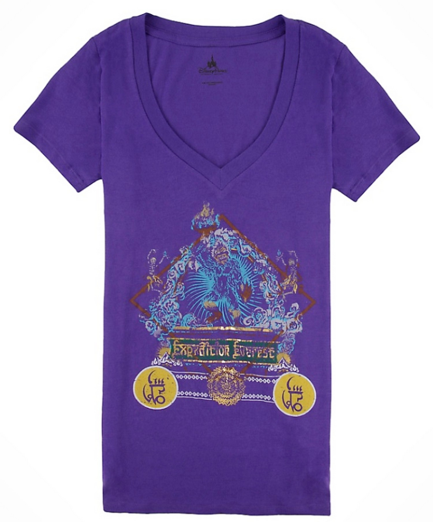 Expedition Everest V-Neck Purple Adult T-Shirt (Tee, Tshirt or T shirt) ~ Disney Animal Kingdoms