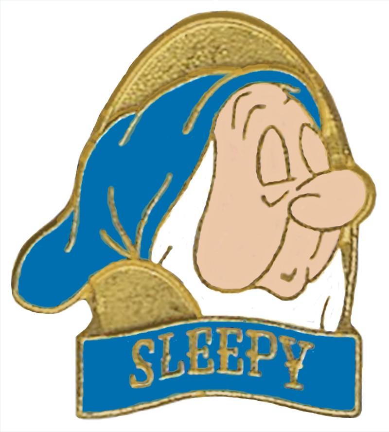 Disney Snow White and the Seven Dwarfs Video & DVD Release - Sleepy Pin © Dizdude.com