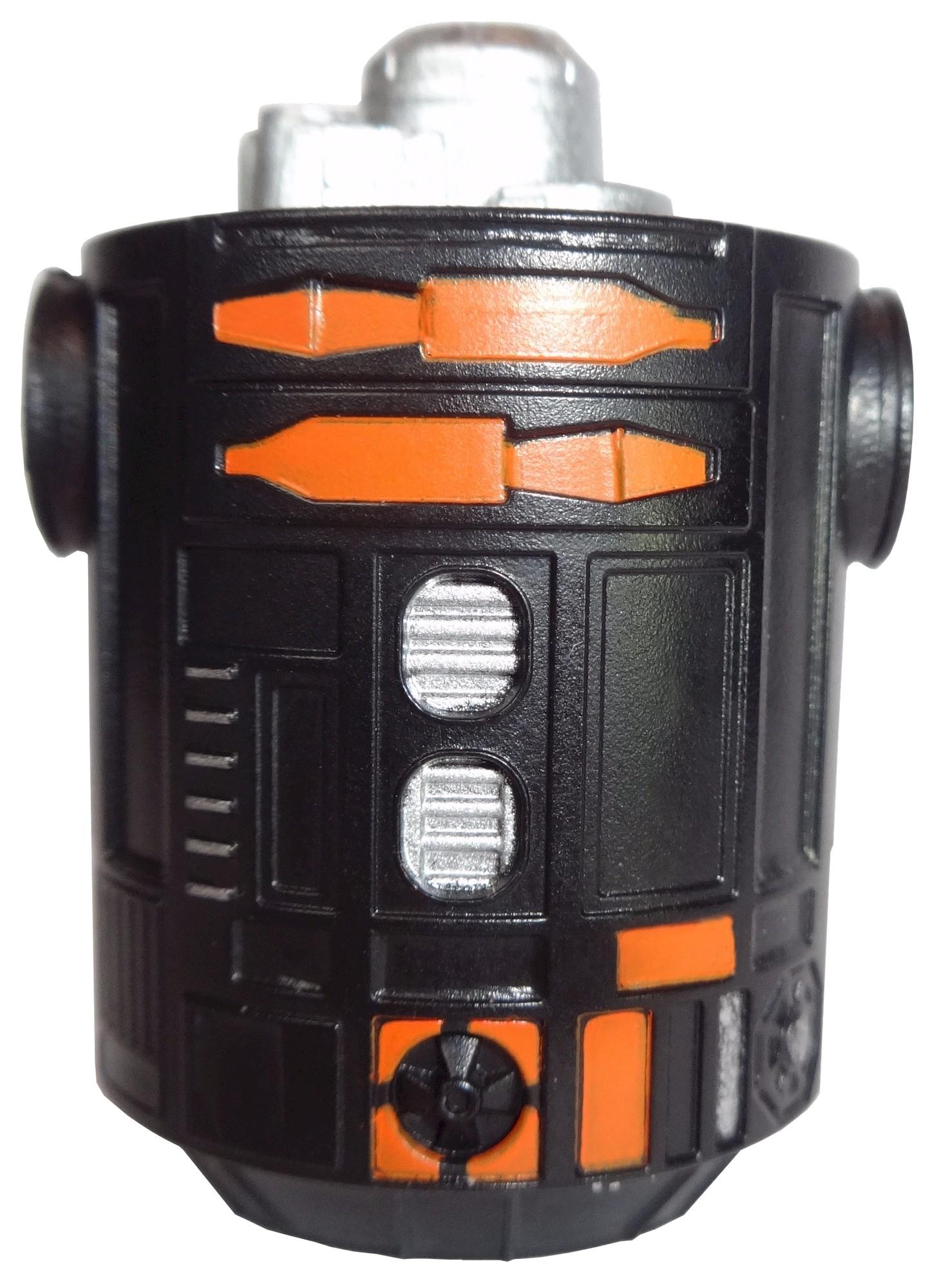 Black & Orange Astromech Droid Body ~ Series 2 from Disney Star Wars Build-A-Droid Factory © Dizdude.com