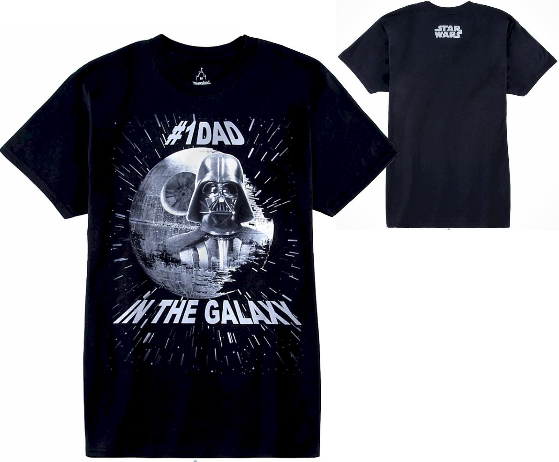 Number 1 Dad In The Galaxy Adult T-Shirt (Tshirt, T shirt or Tee) - Disney's Star Wars © Dizdude.com
