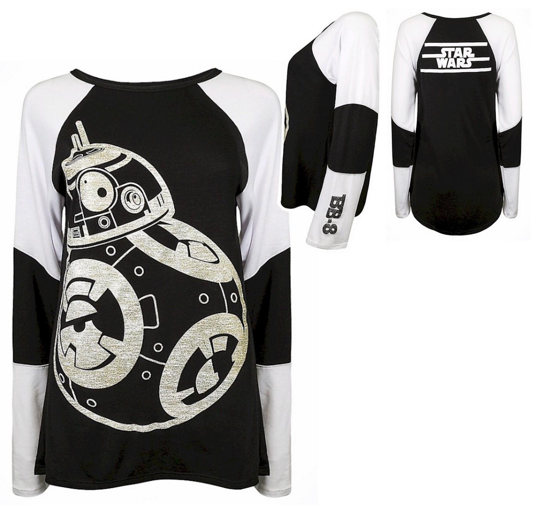 Long Sleeved BB-8 Adult T-shirt (Tee, Tshirt or T shirt) - Disney Star Wars: The Last Jedi © Dizdude.com
