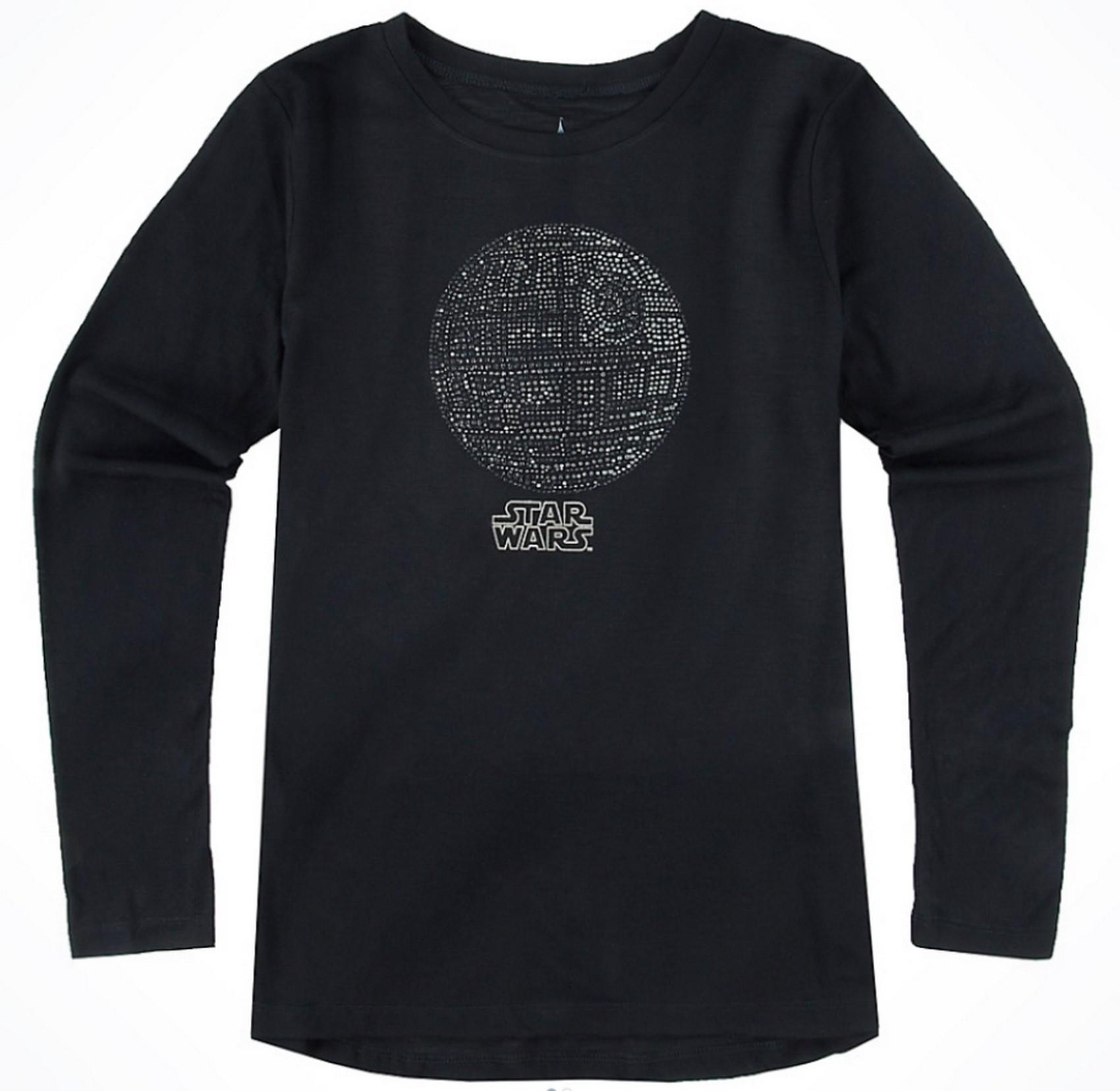 Rhinestone Death Star Long Sleeved Adult T-Shirt (Tshirt, T shirt or Tee) - Disney's Star Wars © Dizdude.com