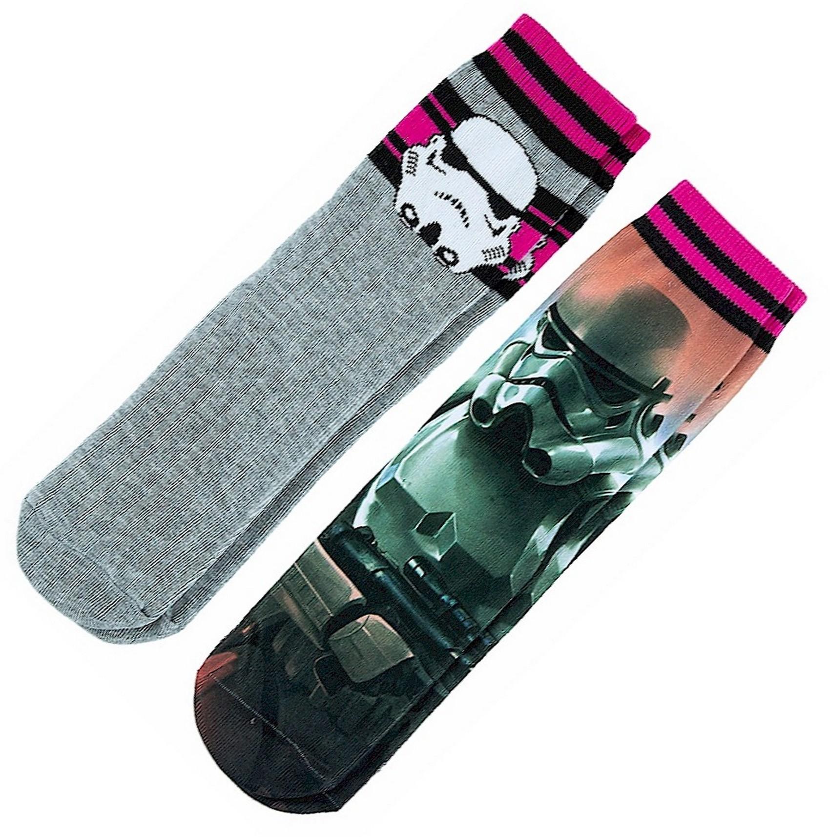 Stormtrooper Set of 2 Adult Socks ~ Disney Star Wars