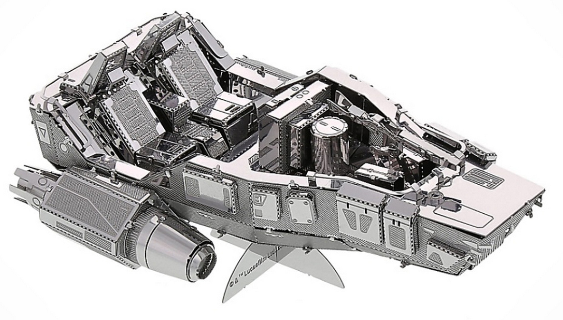 The Force Awakens First Order Snowspeeder 3D Metal Model Kit ~ Disney Star Wars © Dizdude.com