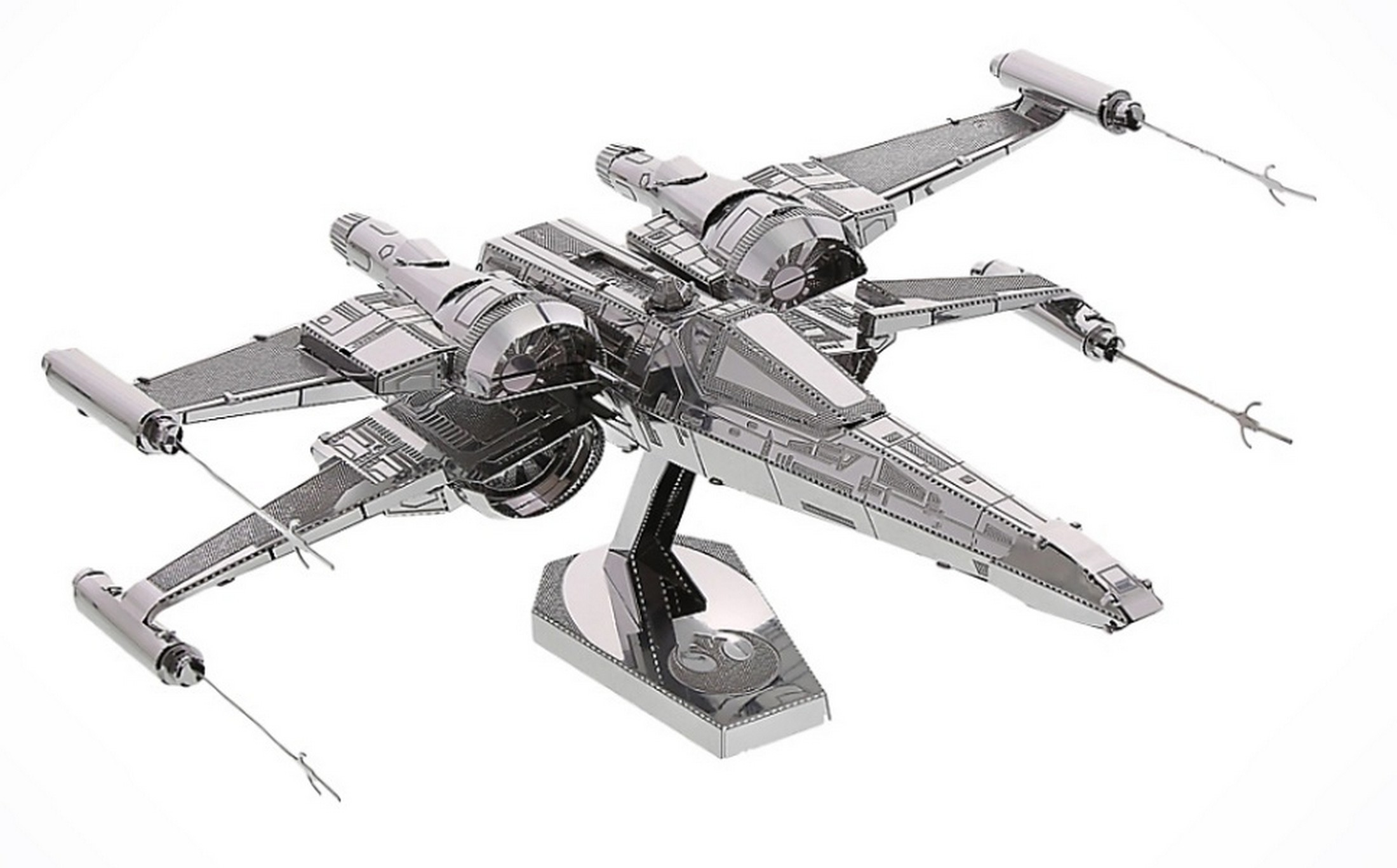 The Force Awakens Poe Dameron's X-Wing Fighter 3D Metal Model Kit ~ Disney Star Wars © Dizdude.com