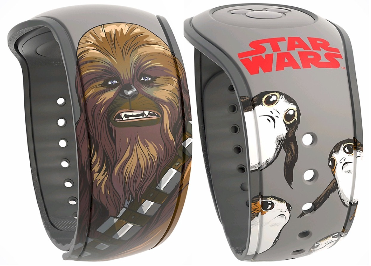 Star Wars: The Last Jedi Chewbacca & Porgs Graphic Magic Band 2 - Disney World Exclusive © Dizdude.com