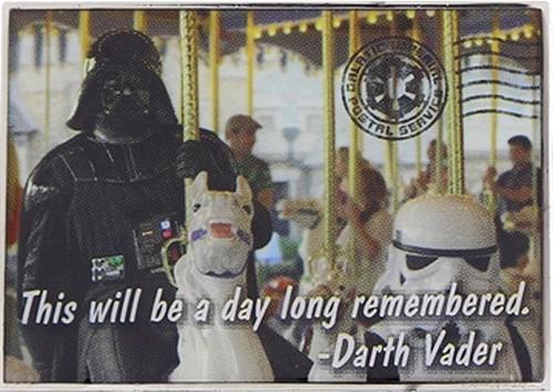 Star Wars Darth Vader on a carousel Pin © Dizdude.com