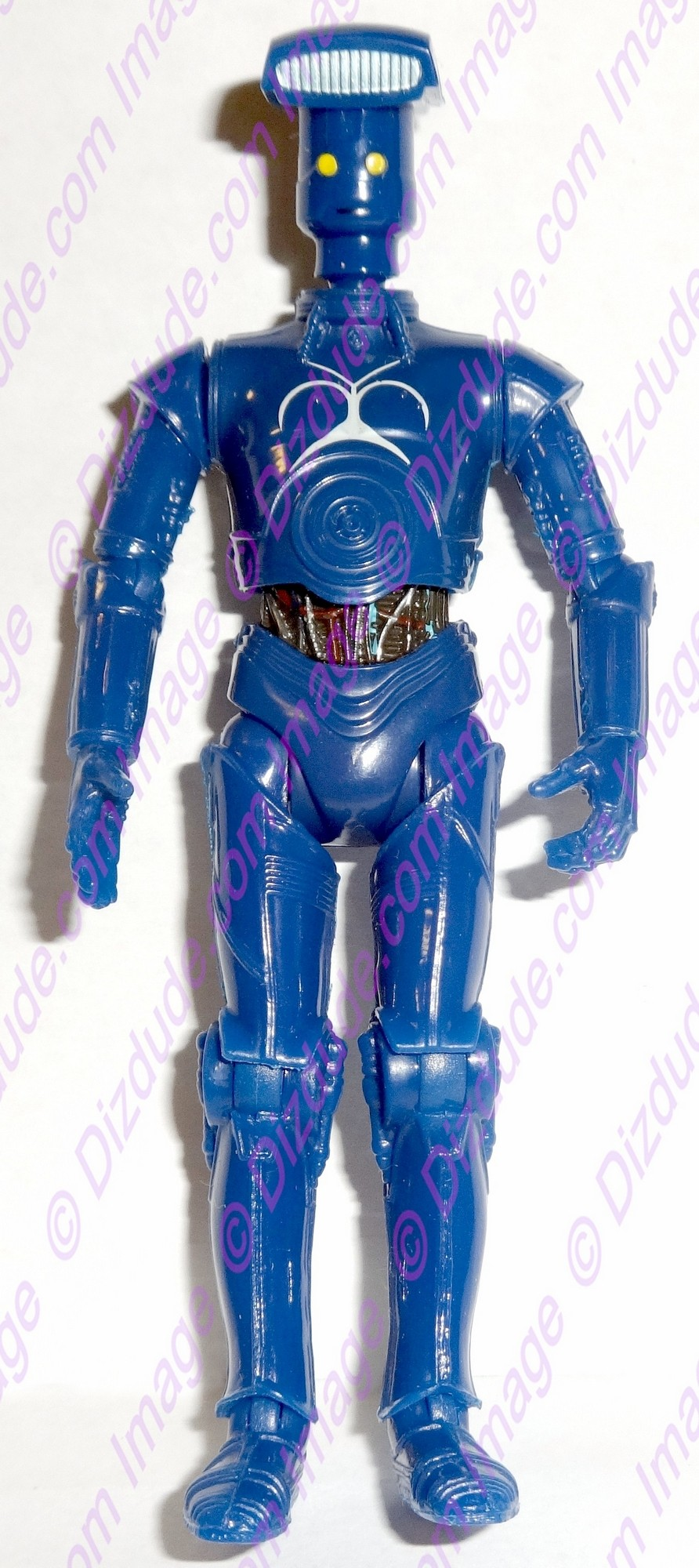 Blue Vender Protocol Droid from Disney Star Wars Build-A-Droid Factory © Dizdude.com