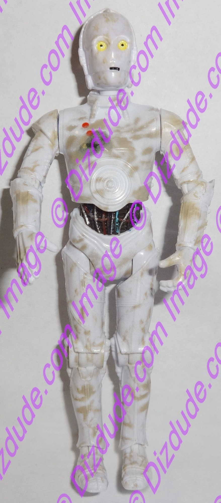 White 3PO Protocol Droid from Disney Star Wars Build-A-Droid Factory © Dizdude.com