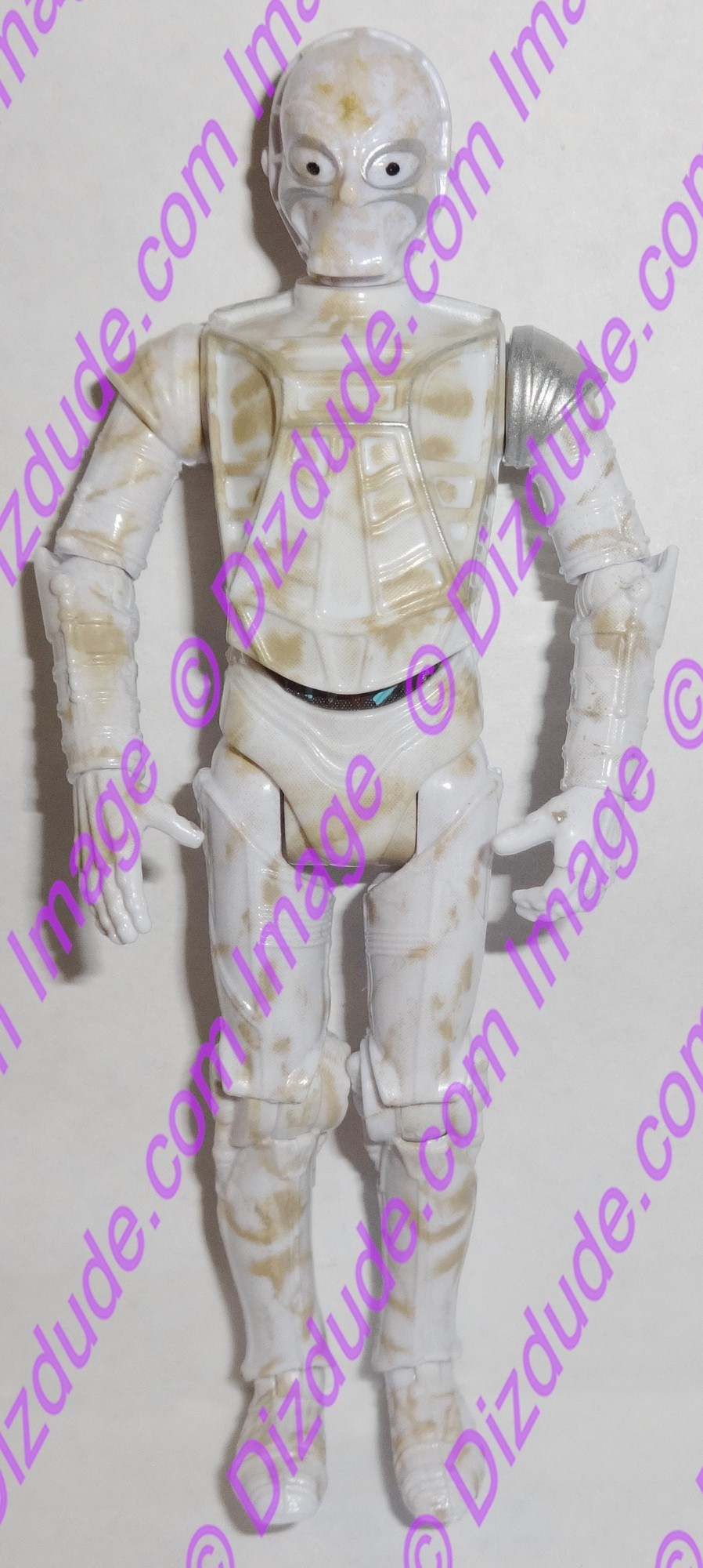 White CZ Protocol Droid from Disney Star Wars Build-A-Droid Factory © Dizdude.com