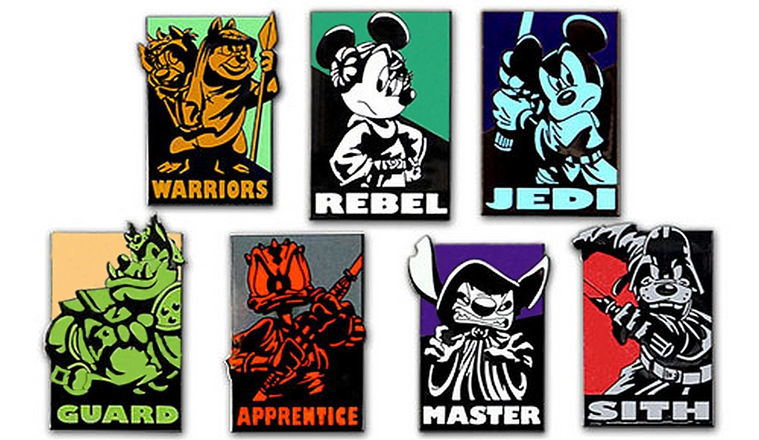 Disney Star Wars Heroes VS Villains Mini Pin Set © Dizdude.com