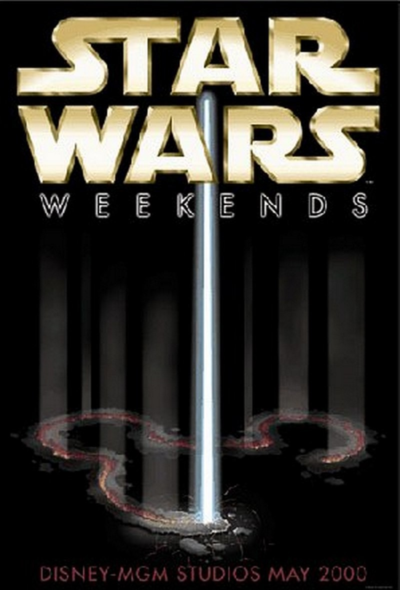 Star Wars Weekends 2000 Poster ~ First ever SWW event poster RARE ~ © DIZDUDE.com