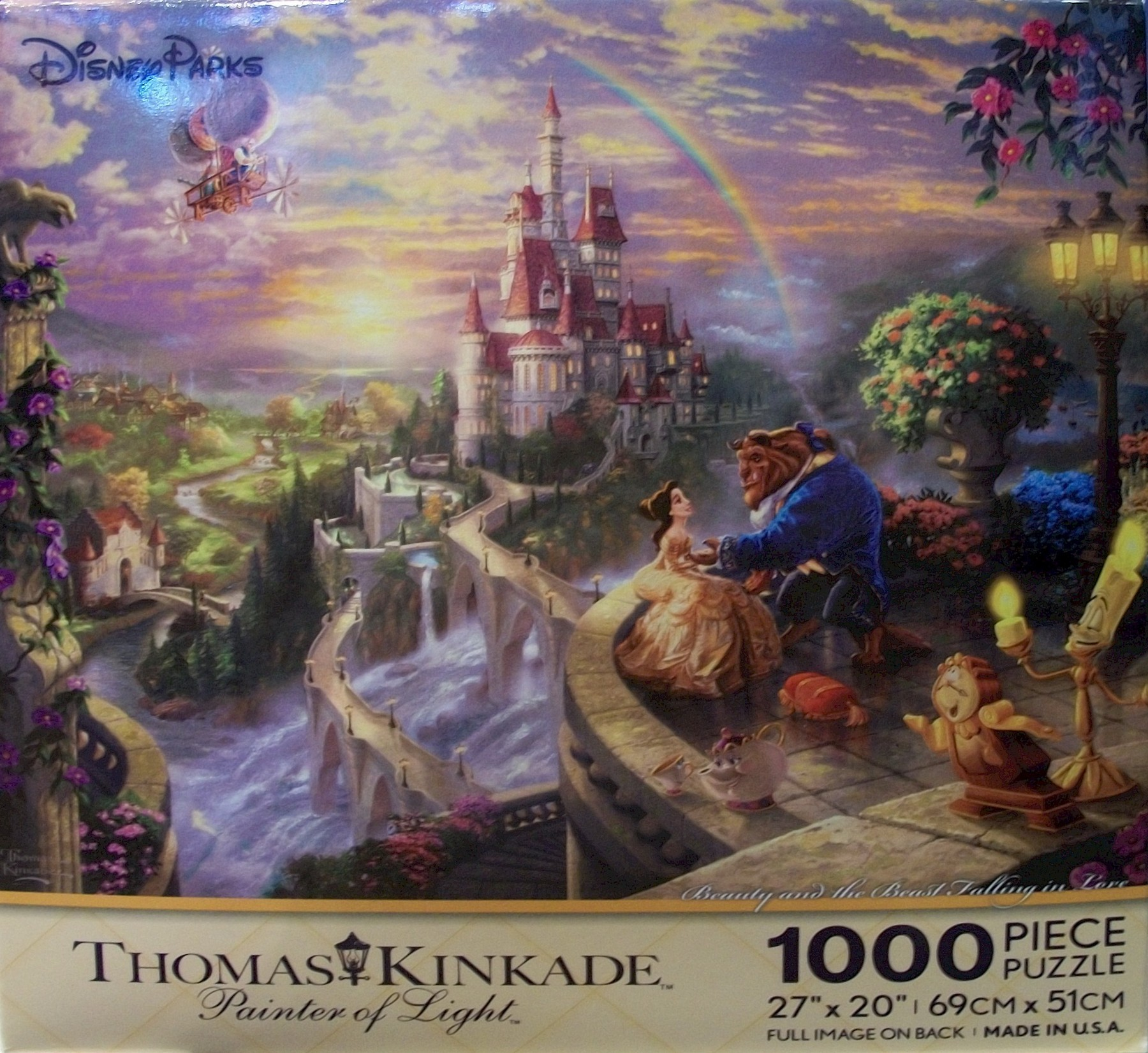 Disney World Beauty And The Beast 1000 Piece Thomas Kinkade Jigsaw Puzzle © Dizdude.com