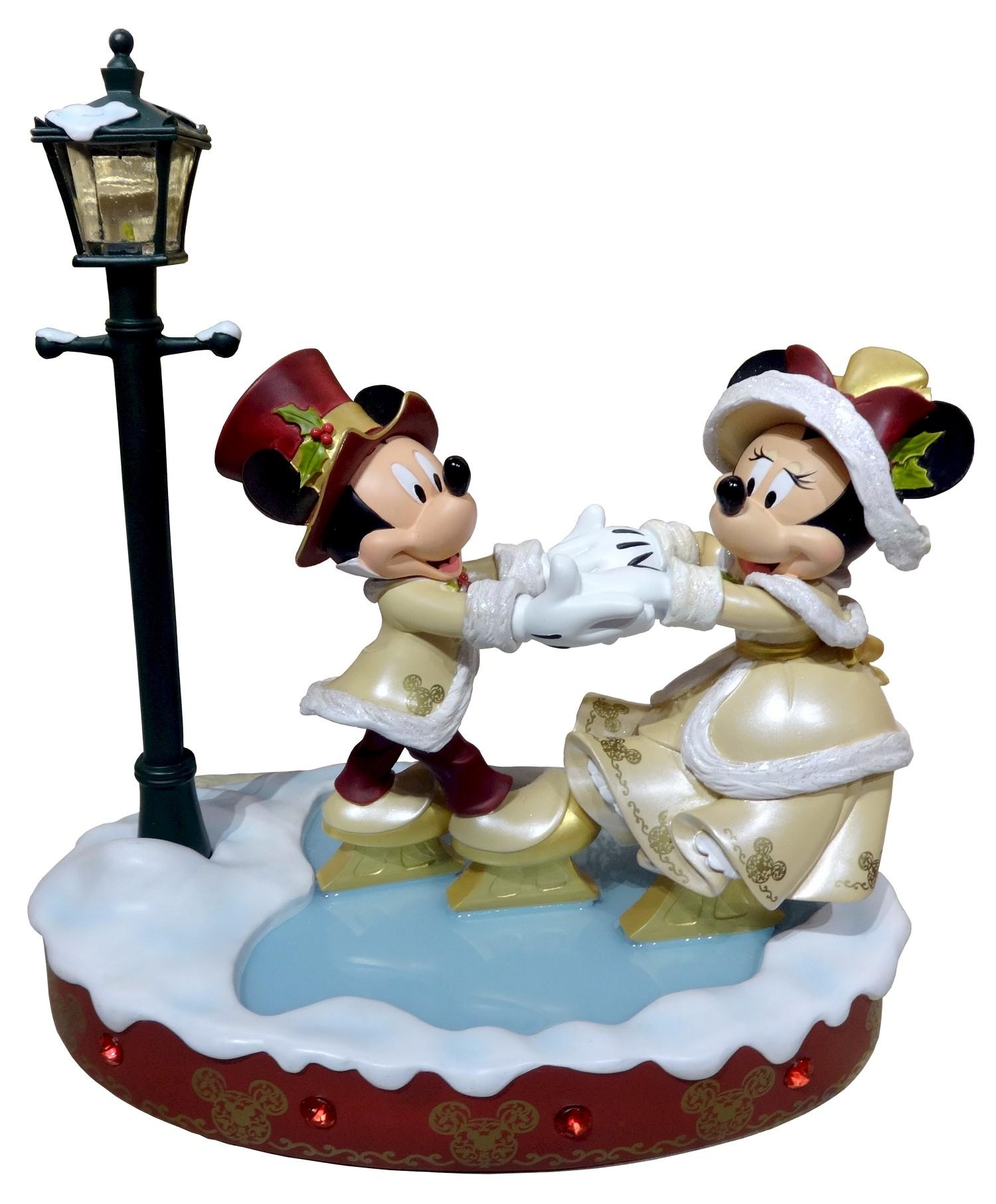 Disney Victorian Mickey and Minnie Skating Christmas Medium Big Fig by Disney Artist Costa Alavezos © Dizdude.com