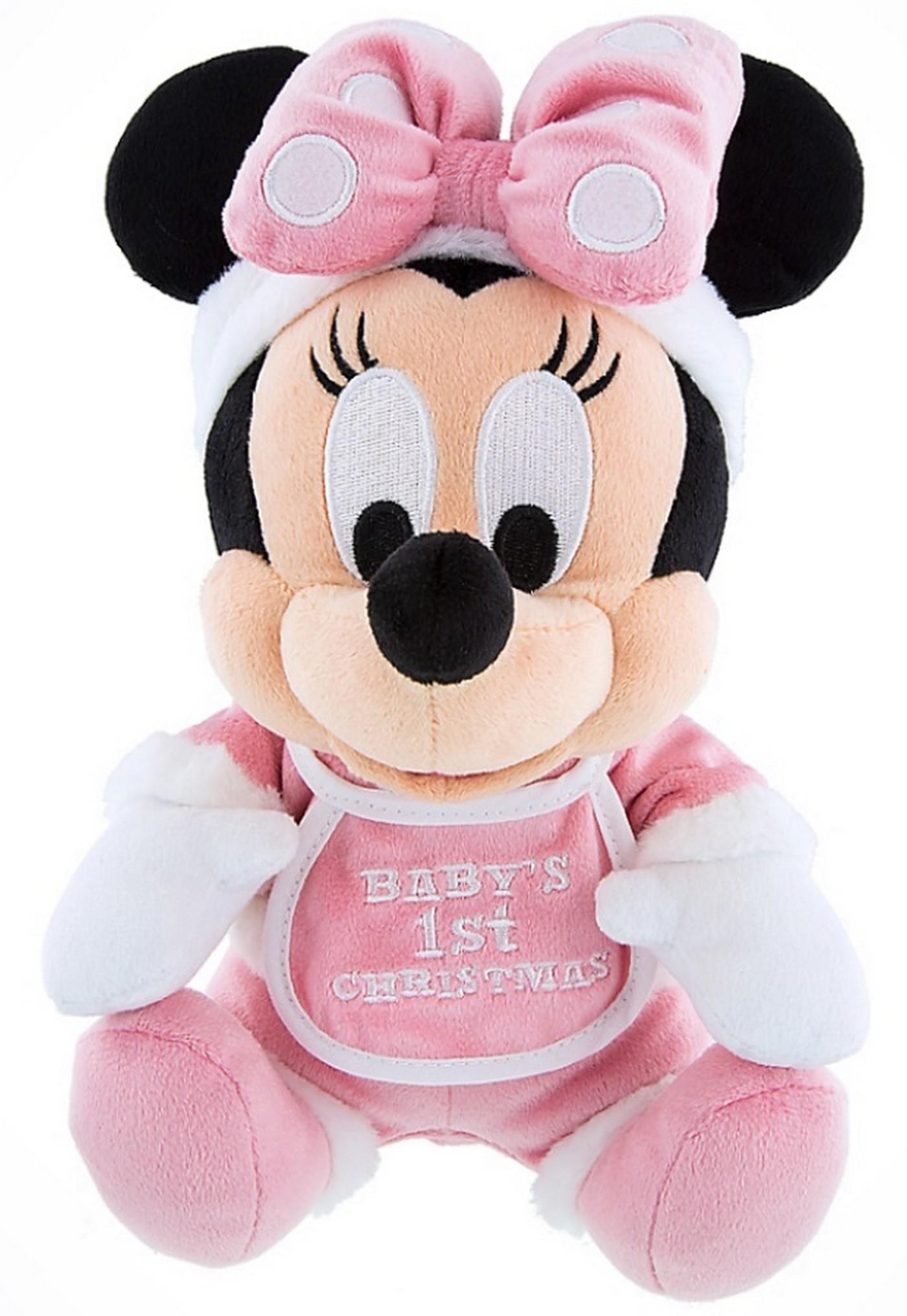 Disney Santa Minnie Baby's First Christmas 9inch Soft Plush © Dizdude.com