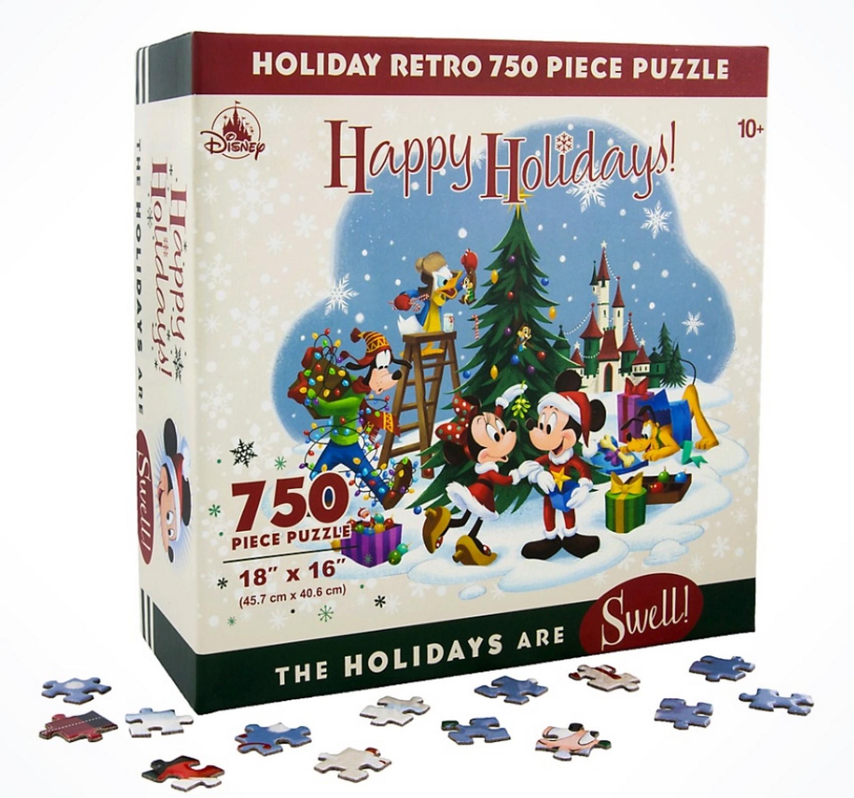 Mickey & Friends Retro Christmas - Holiday 750 Piece Jigsaw Puzzle © Dizdude.com