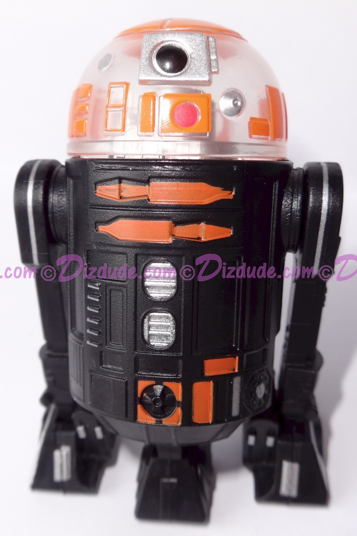 R3 Black & Orange Astromech Droid Dome ~ Pick-A-Hat ~ Series 2 from Disney Star Wars Build-A-Droid Factory © Dizdude.com