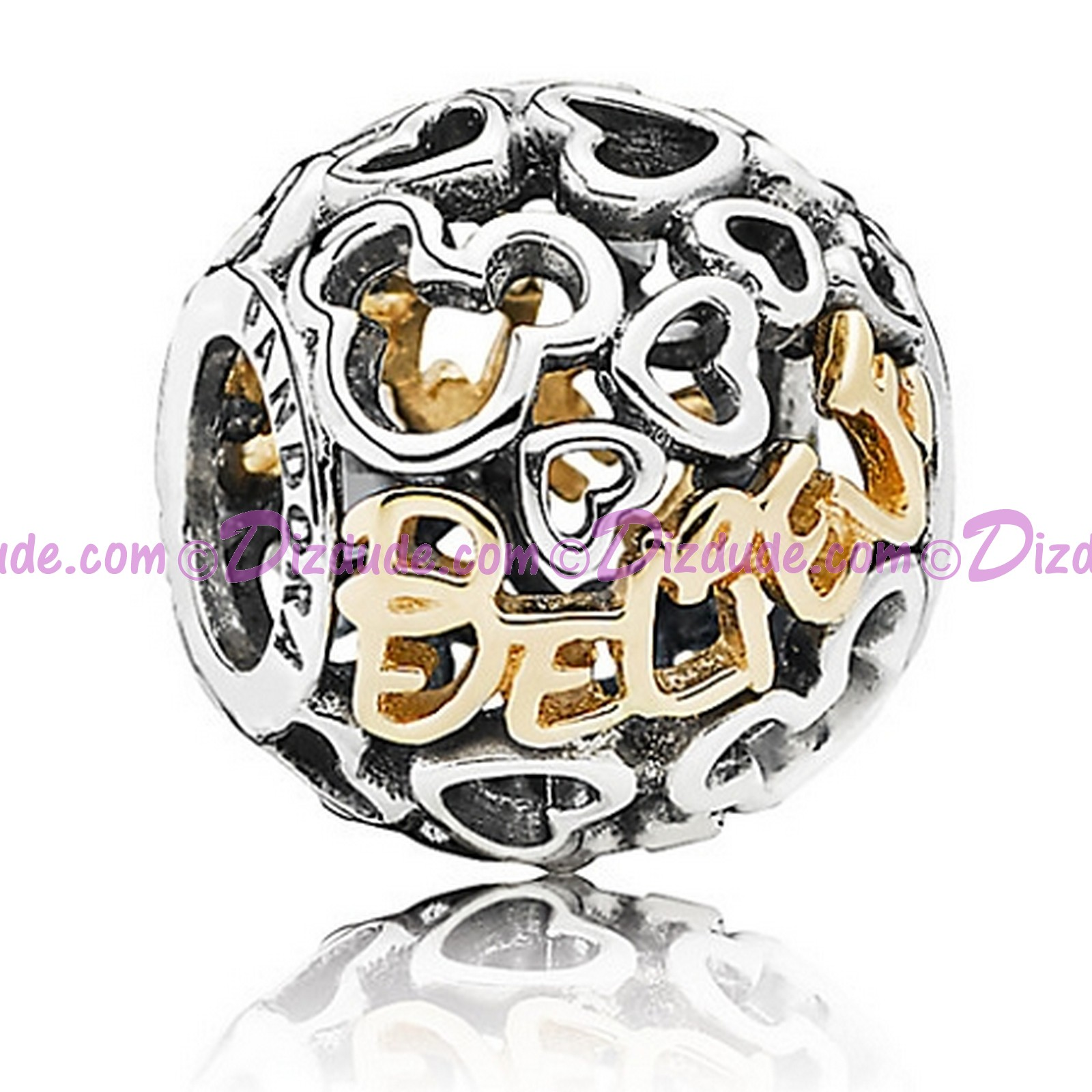 "(Sold Out) Disney Pandora ""Believe"" 14 Karat Gold and Sterling Silver Charm"