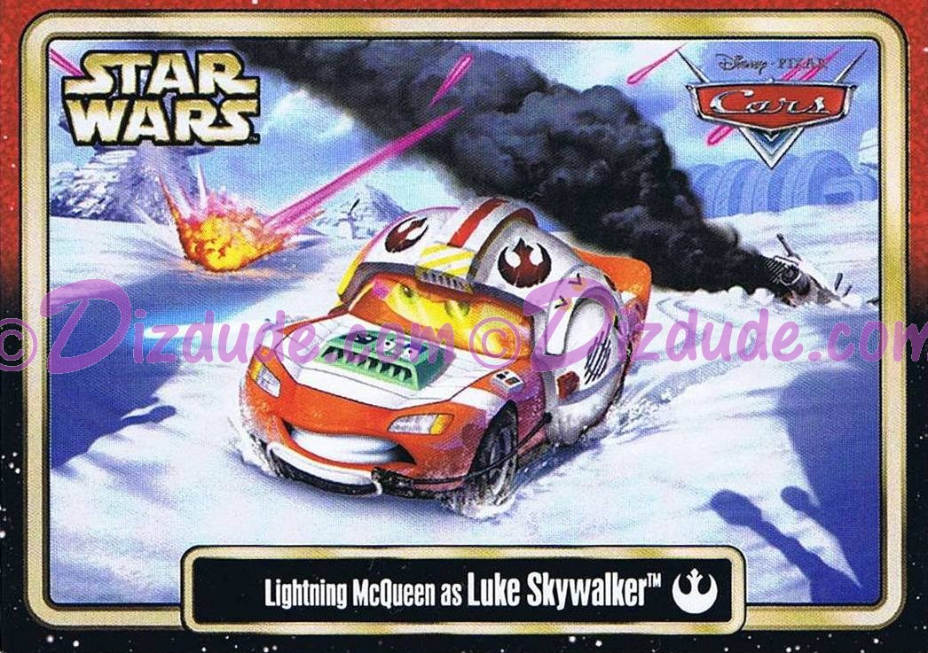Star Wars Celebration VI (C6) Lightning McQueen as Luke Skywalker Star CarsTrading Card © Dizdude.com