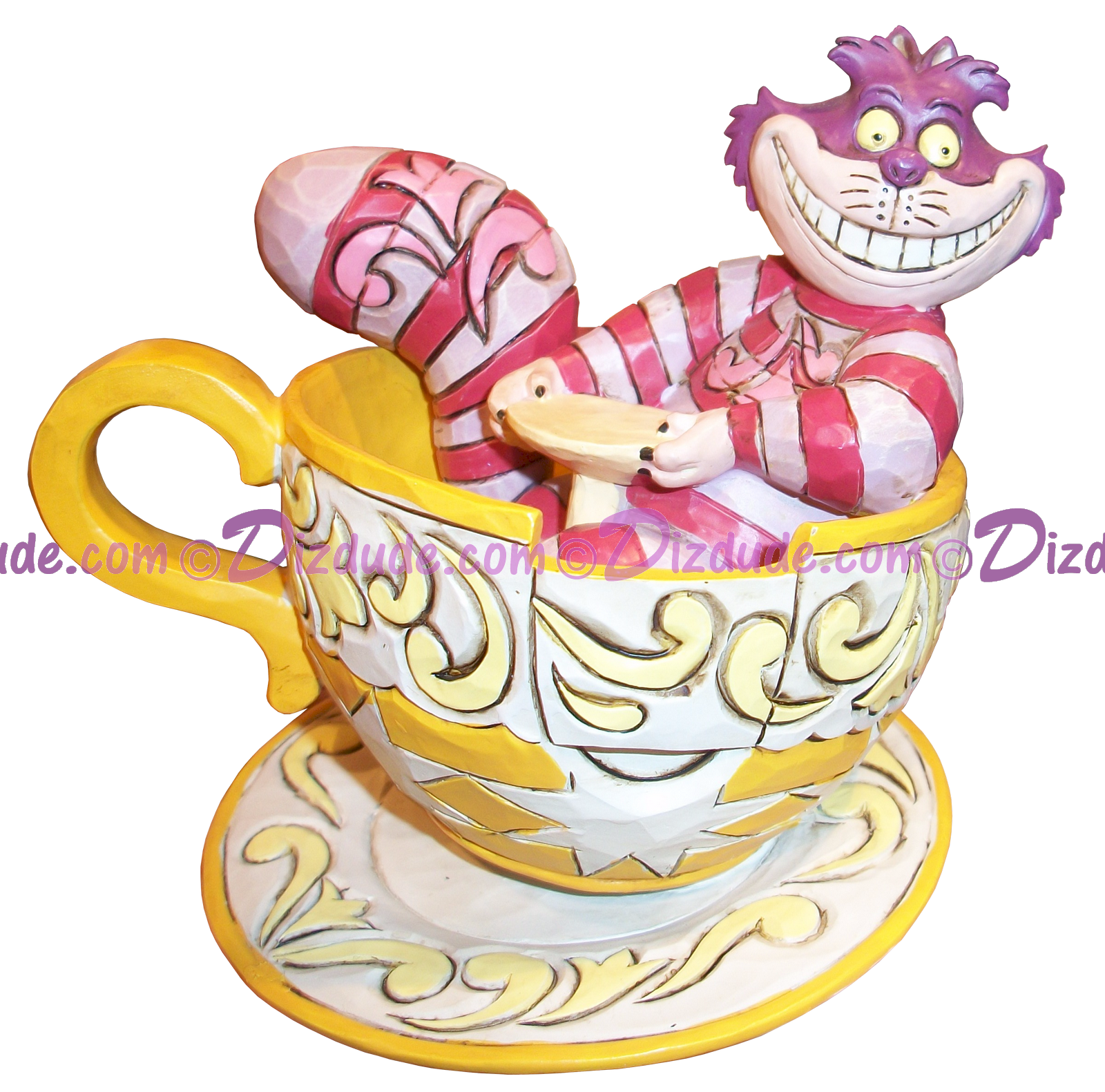 "Disney Traditions ~ Cheshire Cat in ""Mad Tea Party"" by Artist Jim Shore © Dizdude.com"