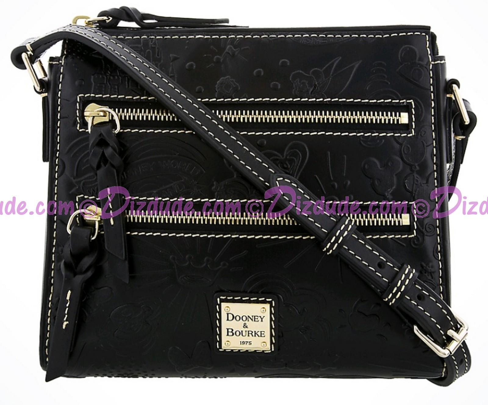 Dooney & Bourke Black Leather Sketch Slim Cross Body Bag - Disney World Exclusive © Dizdude.com