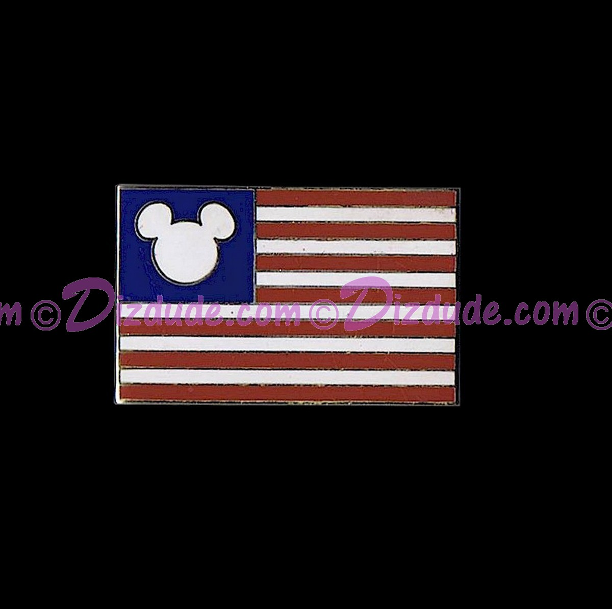 Disney All American Mickey Icon Flag Pin © Dizdude.com