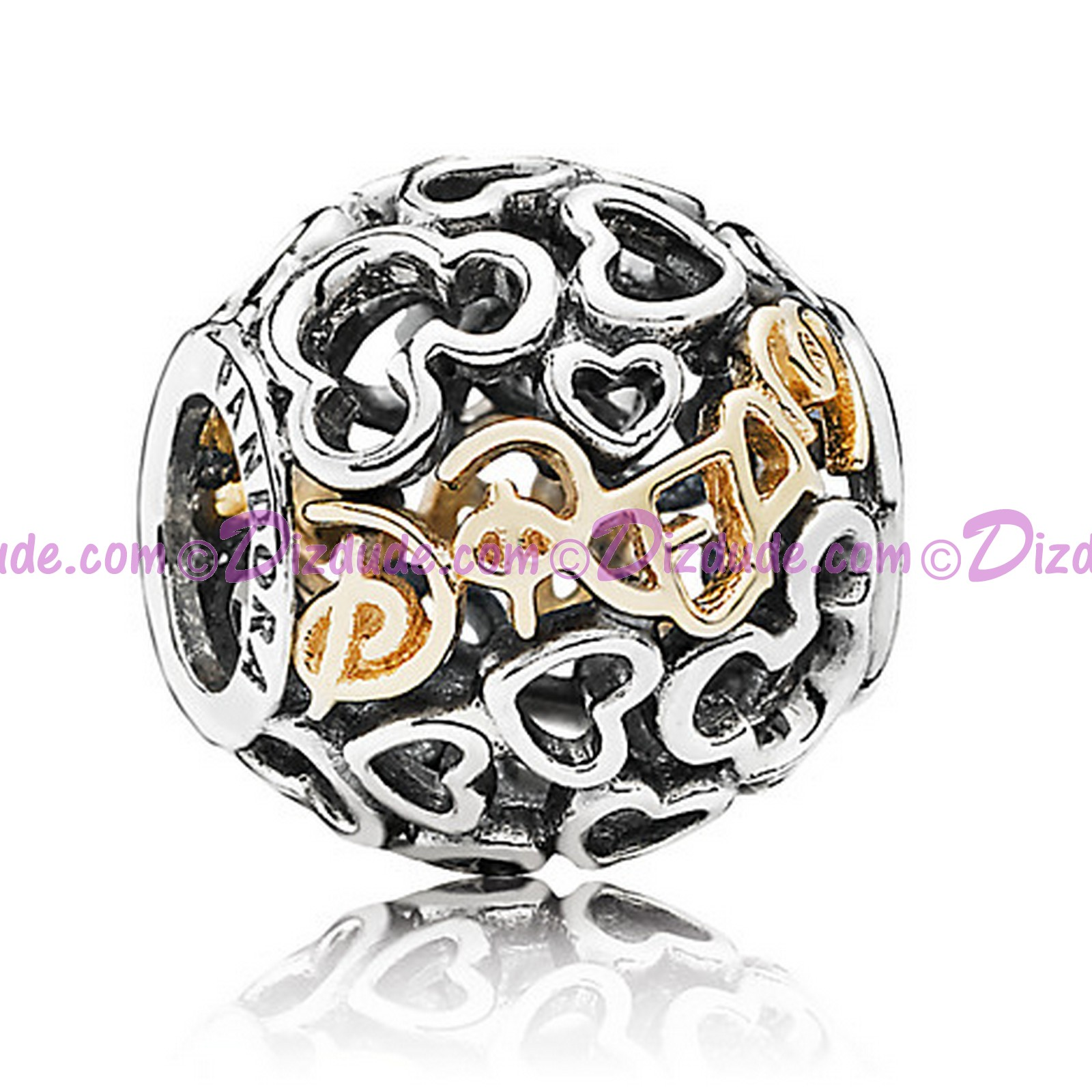 "(SOLD OUT) Disney Pandora ""Dream"" 14 Karat Gold and Sterling Silver Charm"