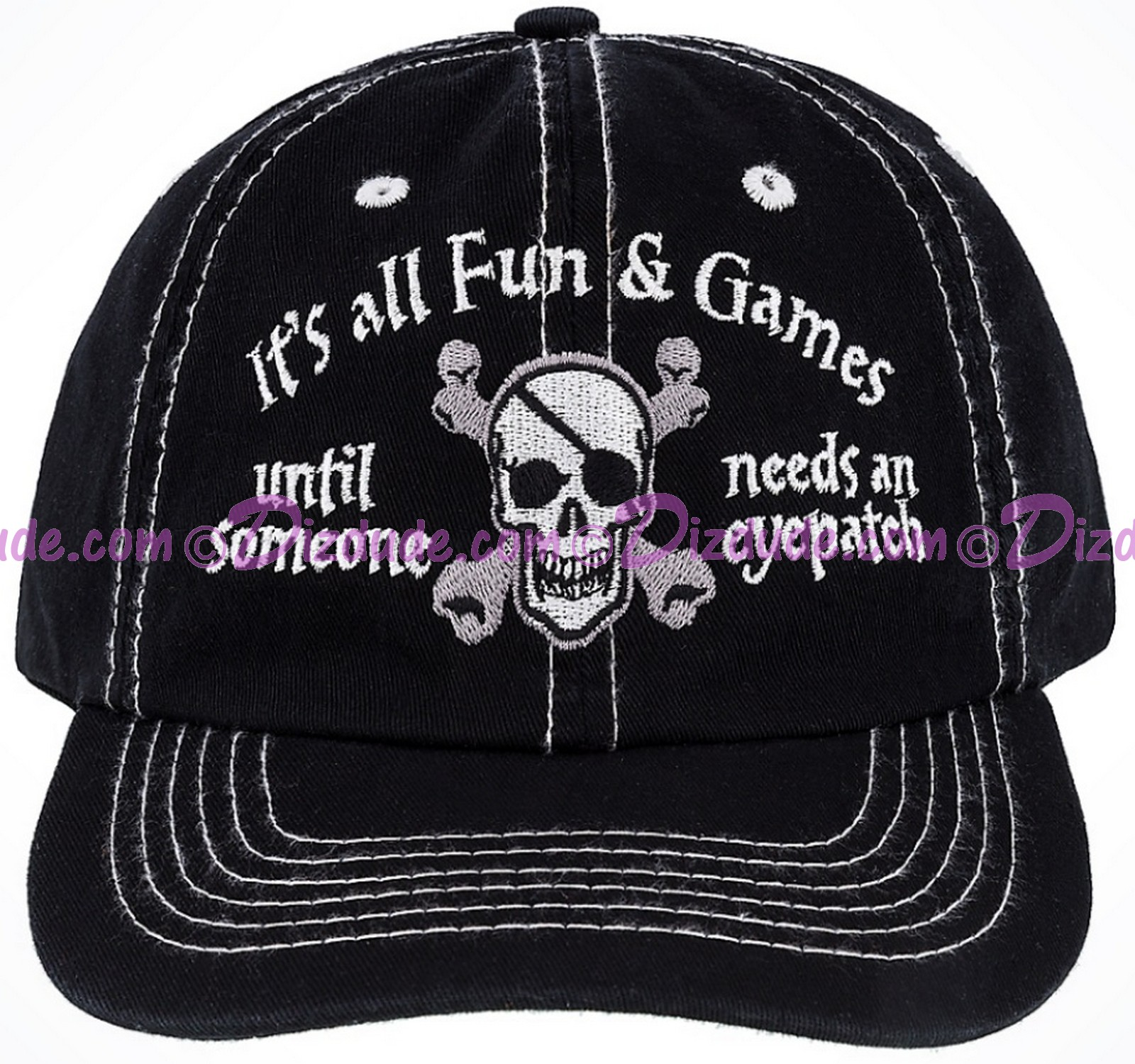 Disney's Pirates of the Caribbean Its All Fun & Games ... Until Someone Needs An Eyepatch Hat © Dizdude.com