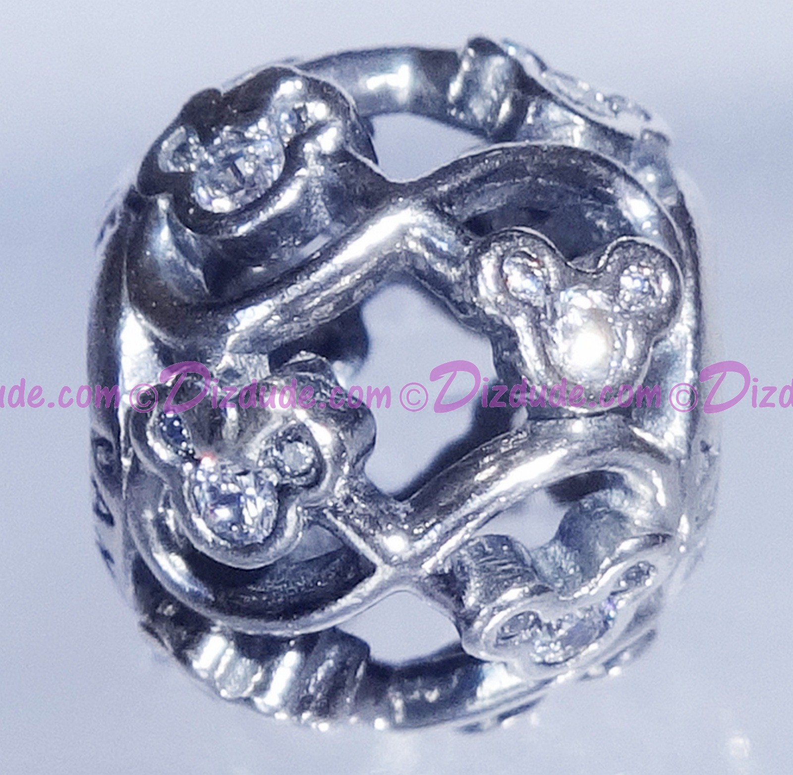 """(SOLD OUT) Disney Pandora """"Mickey & Minnie Infinity"""" Sterling Silver Charm with Cubic Zirconias"""