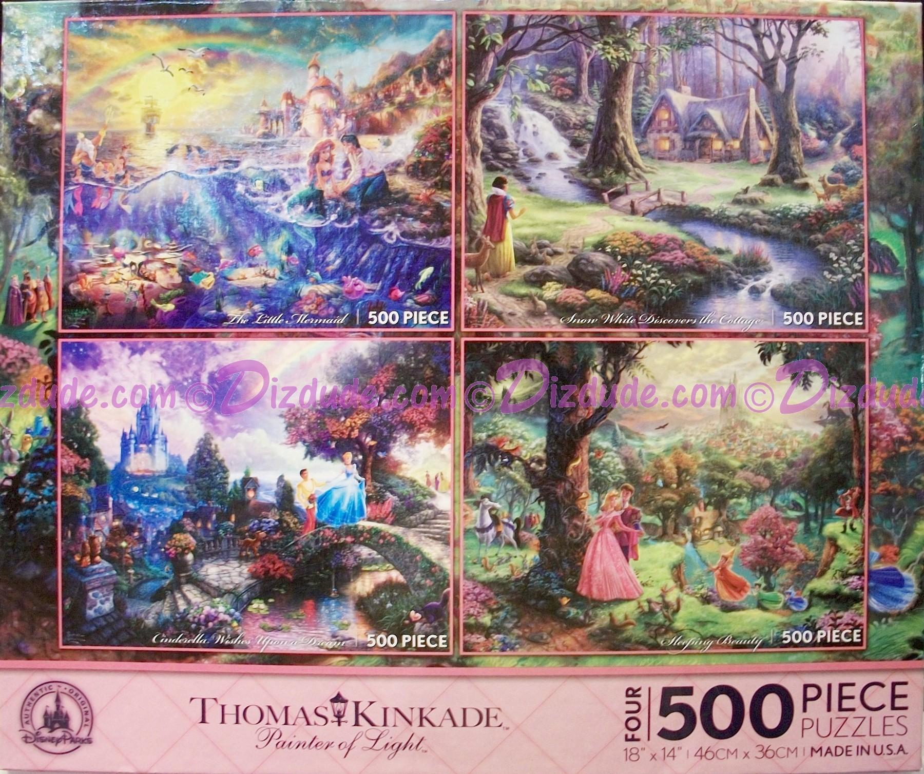 Disney World Princesses Four 500 Piece Thomas Kinkade Jigsaw Puzzles © Dizdude.com