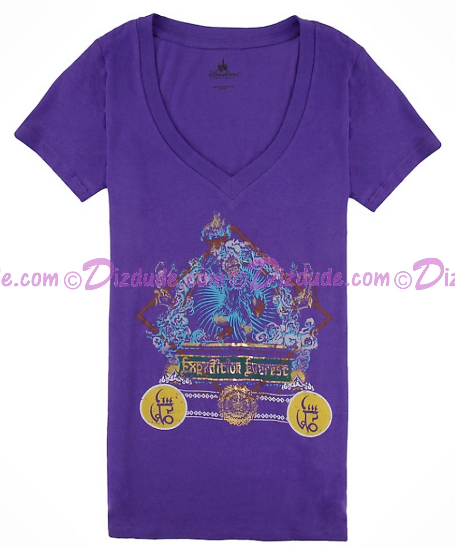(OUT OF STOCK) Expedition Everest V-Neck Purple Adult T-Shirt (Tee, Tshirt or T shirt) ~ Disney Animal Kingdoms
