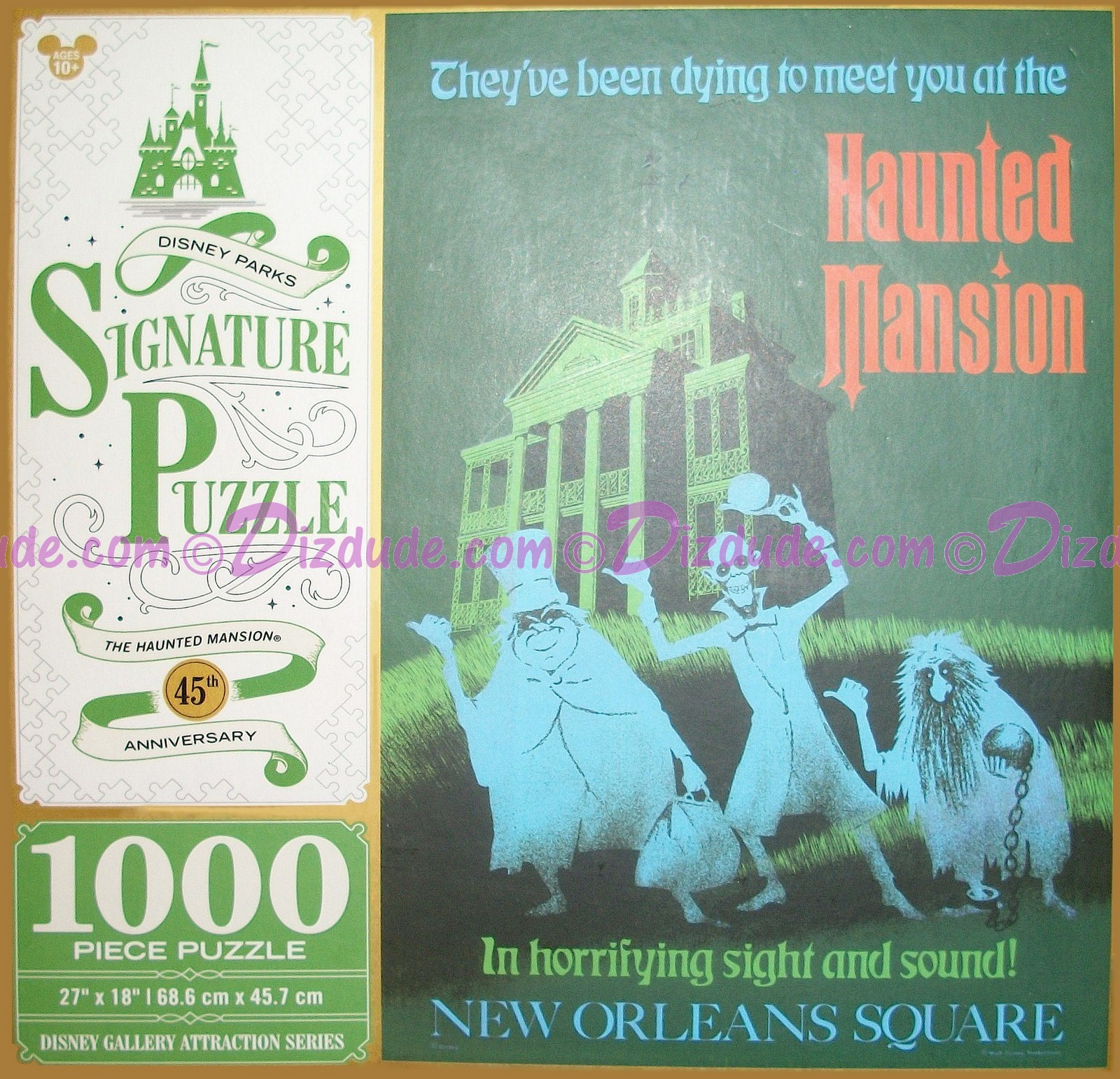 Haunted Mansion 45th Anniversary 1000 Piece Disney Signature Puzzle © Dizdude.com