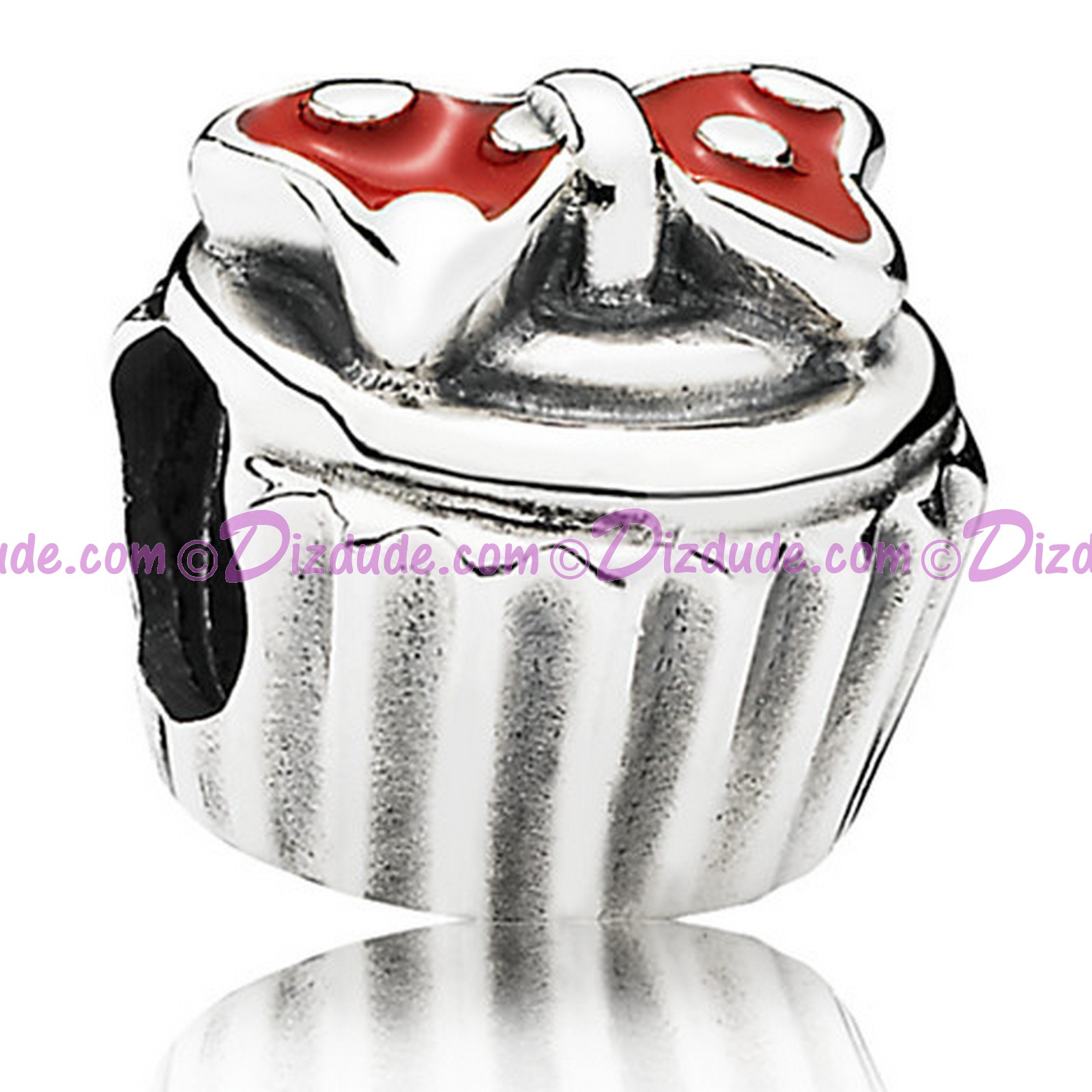 "(sold Out) Disney Pandora ""Minnie Bow Cupcake"" Sterling Silver Charm"