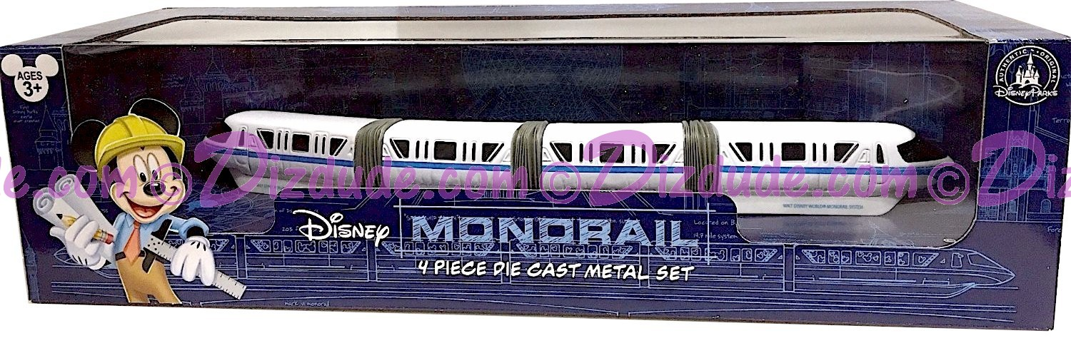 Walt Disney World Monorail Die Cast Metal Set © Dizdude.com