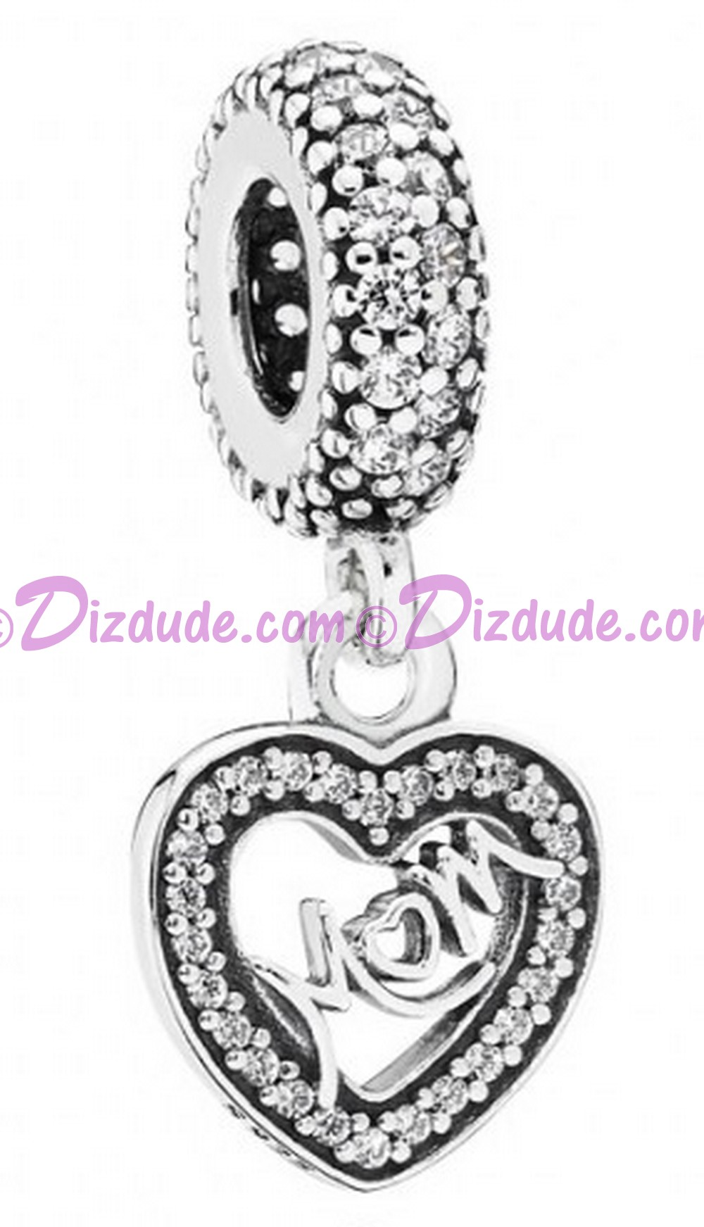 (SOLD OUT) Disney Pandora Center of My Heart Dangle Charm with Cubic Zirconias - Mothers Day Collection 2015