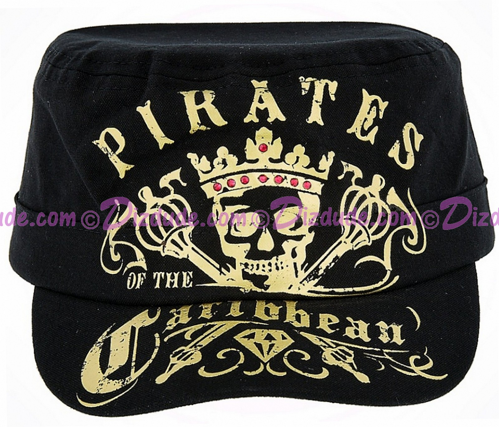 Disney's Pirates of the Caribbean: Dead Men Tell No Tales Broadcloth Cadet Hat With Gold Foil Print © Dizdude.com