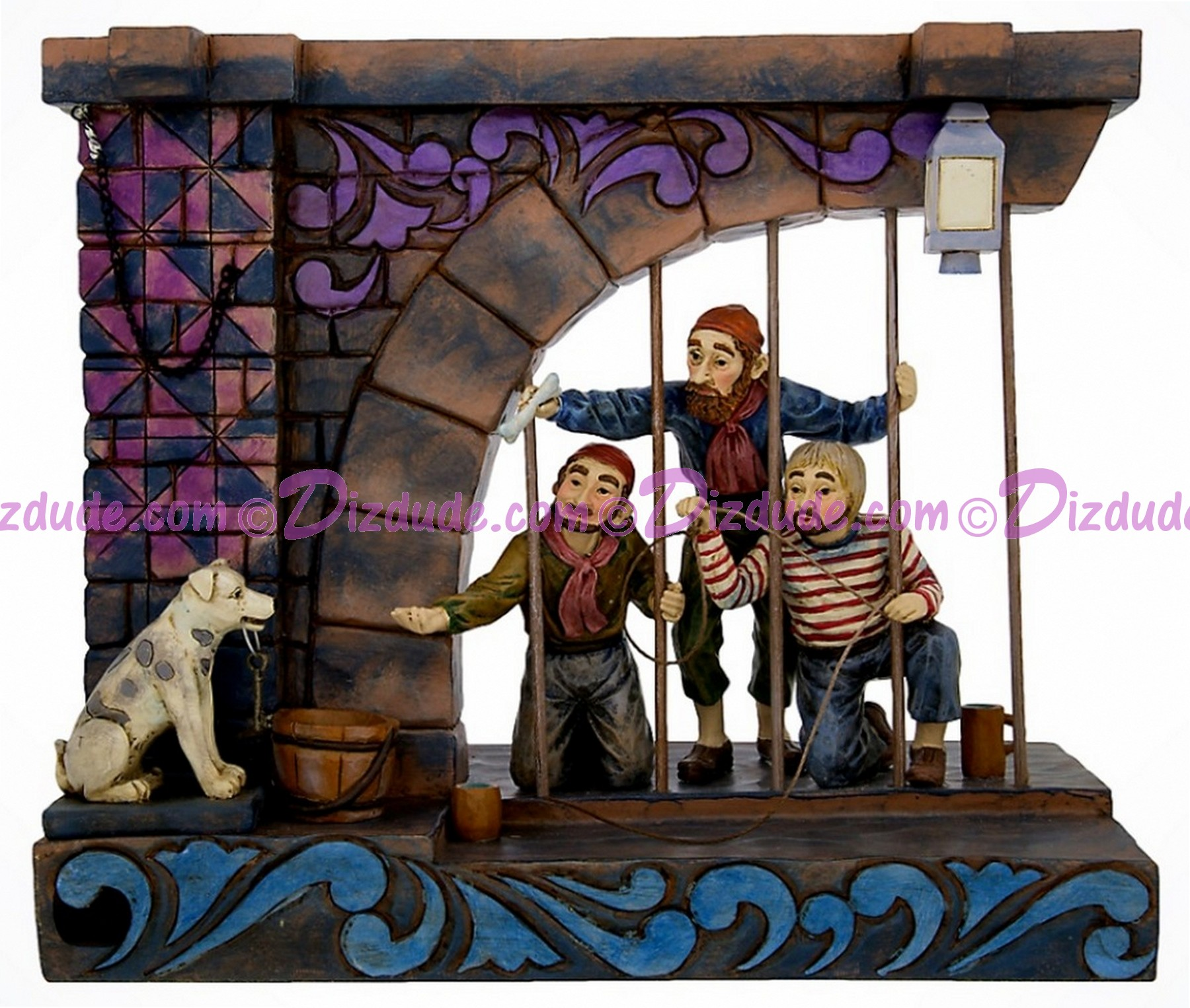 Disney's Pirates of the Caribbean Pirates Jail Scene Figure - Disney Traditions by Artist Jim Shore © Dizdude.com