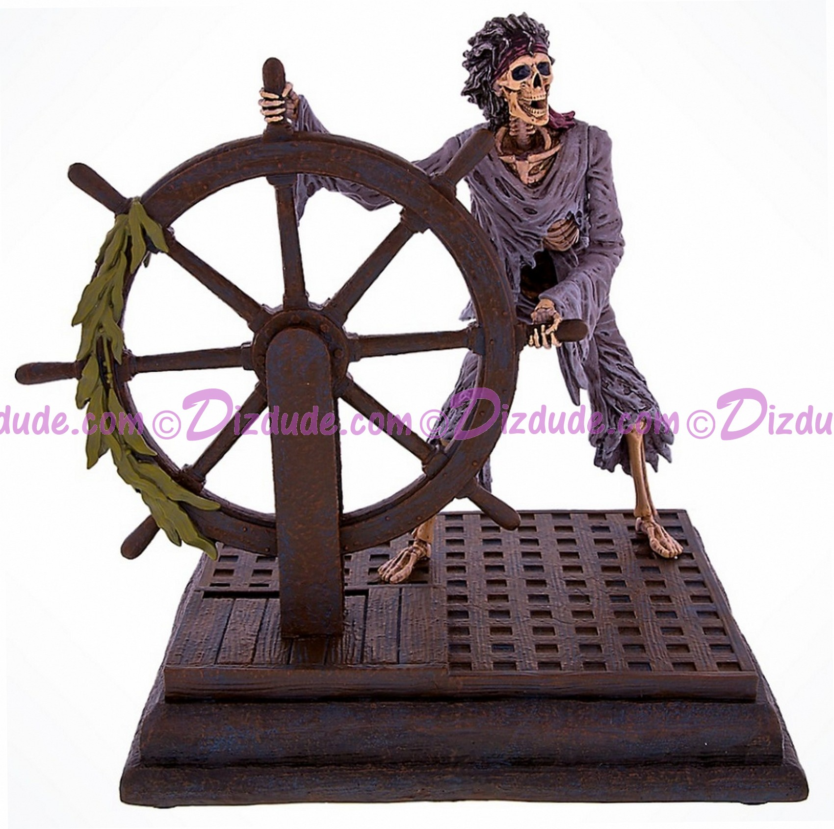 Disney's Pirates of the Caribbean Skeleton Pirate At The Ships Wheel Medium Big Fig © Dizdude.com