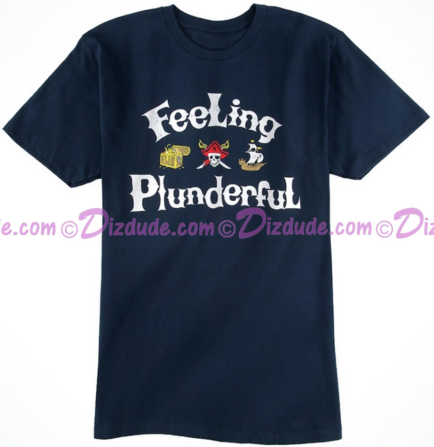 Vintage Disney Pirate Feeling Plunderful Adult T-shirt (Tee, Tshirt or T shirt)