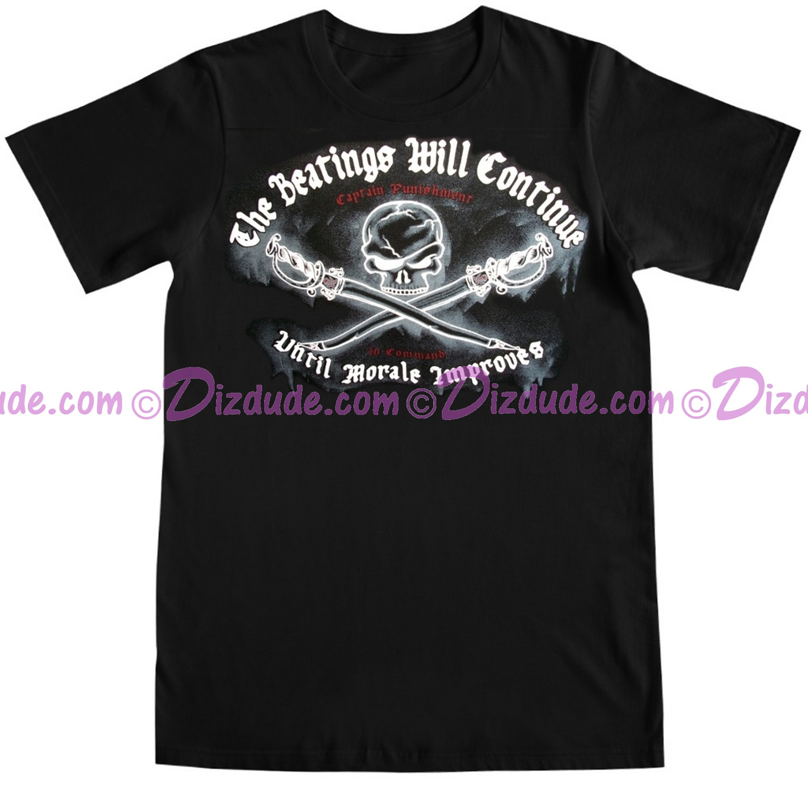 "(SOLD OUT) Pirates of the Caribbean ""The Beatings Will Continue Until Moral Improves"" T-shirt (Tee, Tshirt or T shirt)"