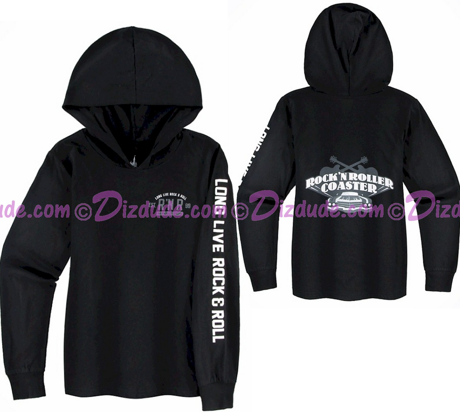 Rock 'N' Roller Coaster Long Live Rock & Roll Youth Hoodie - Disney Hollywood Studios
