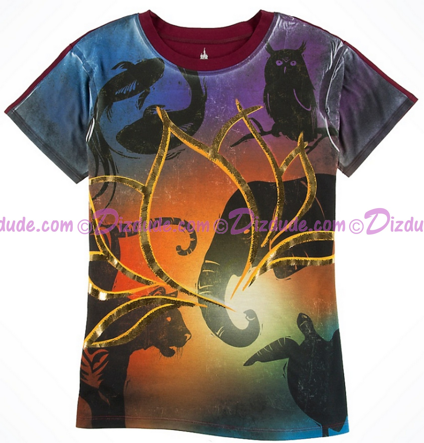 Rivers Of Light Gold Lotus AdultT-Shirt (Tee, Tshirt or T shirt) ~ Disney Animal Kingdom