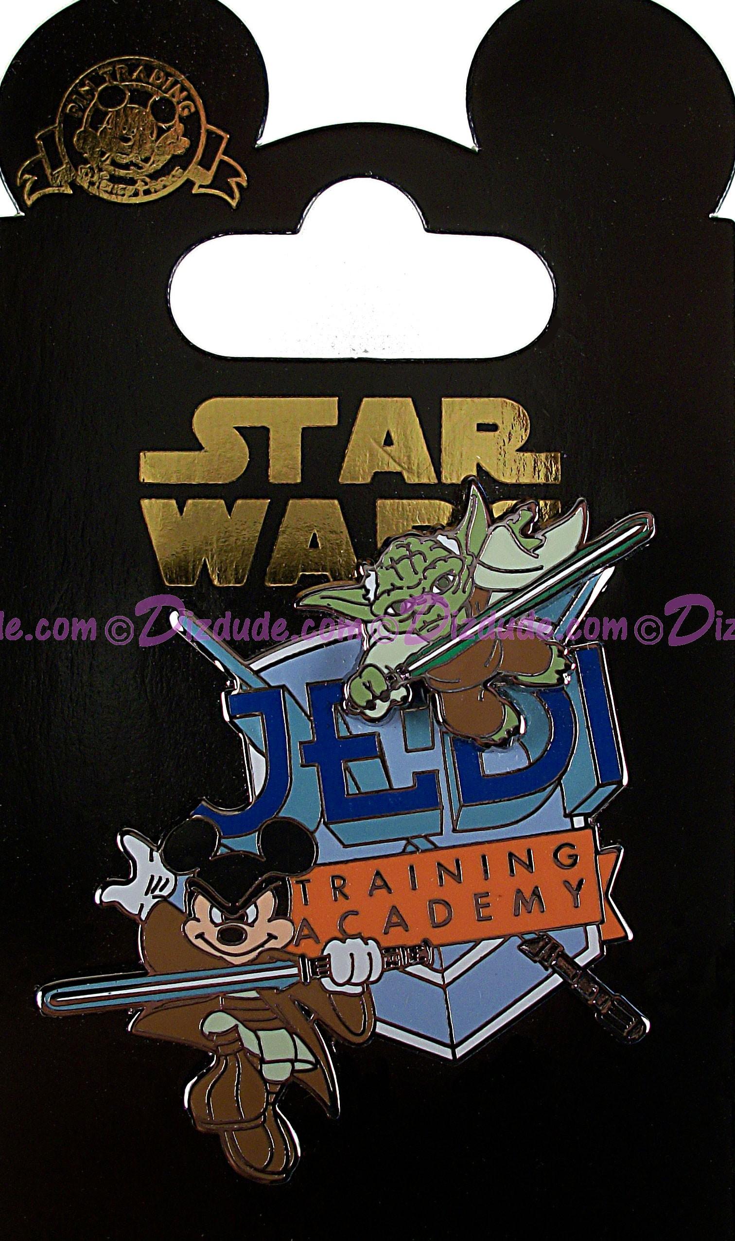Disney Star Wars/ Star Tours Jedi Training Academy Pin Yoda And Jedi Mickey Mouse