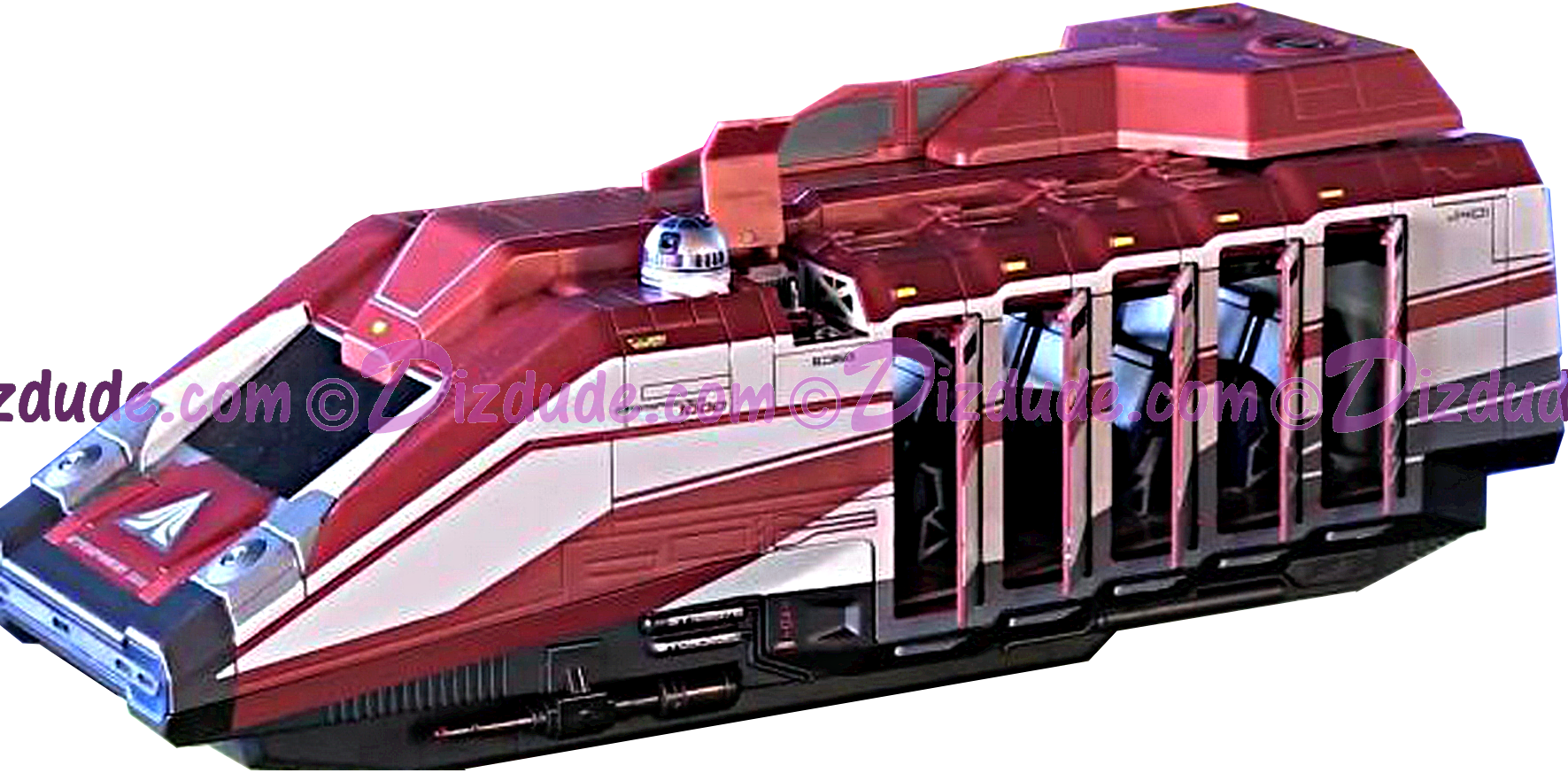 Doors open on the Star Tours / Star Wars StarSpeeder 1000 Vehicle Playset - Disney Star Wars: The Force Awakens ~ Jakku - © Dizdude.com